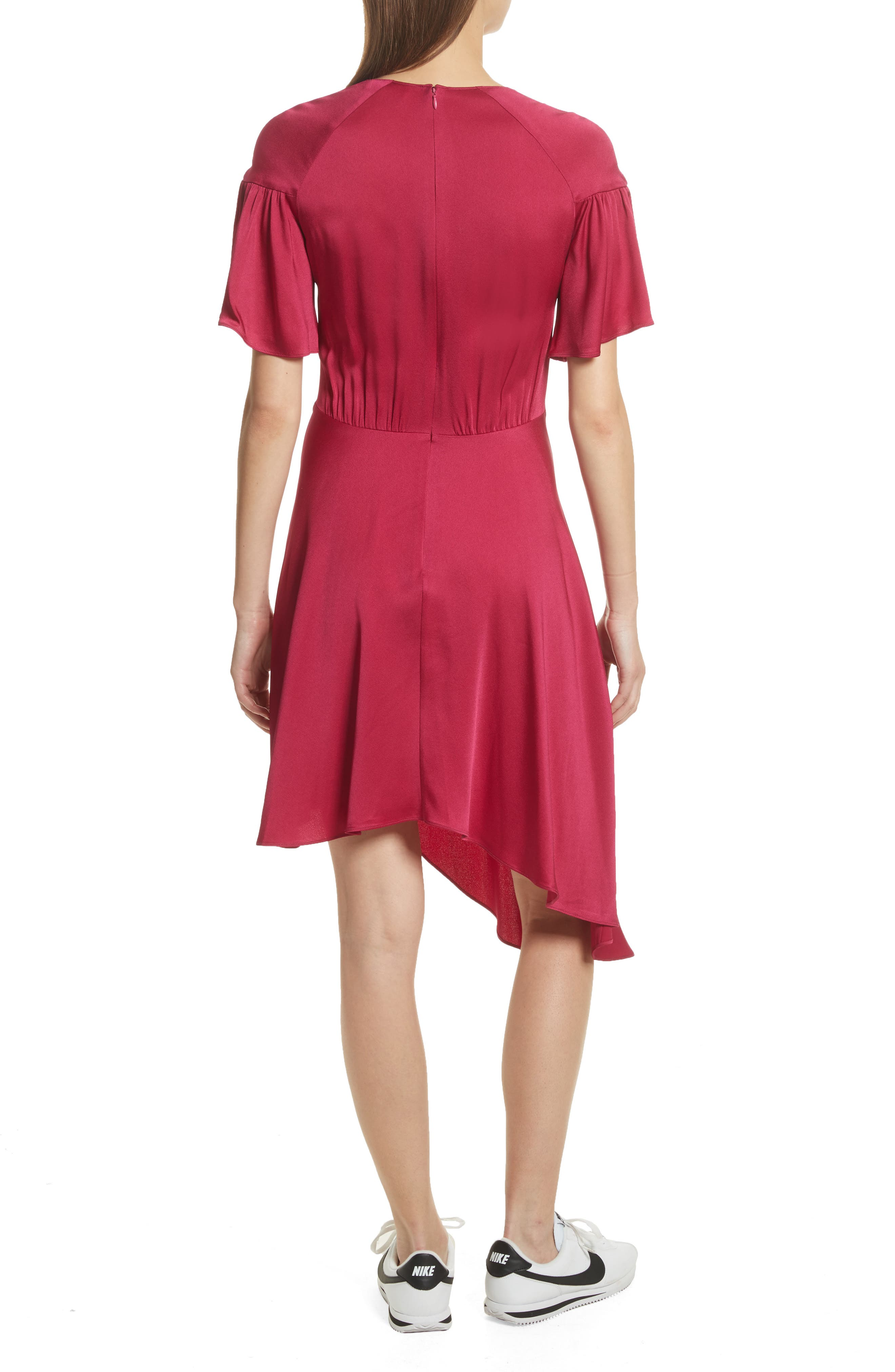 Tilly Asymmetrical Dress,                             Alternate thumbnail 2, color,                             Berry