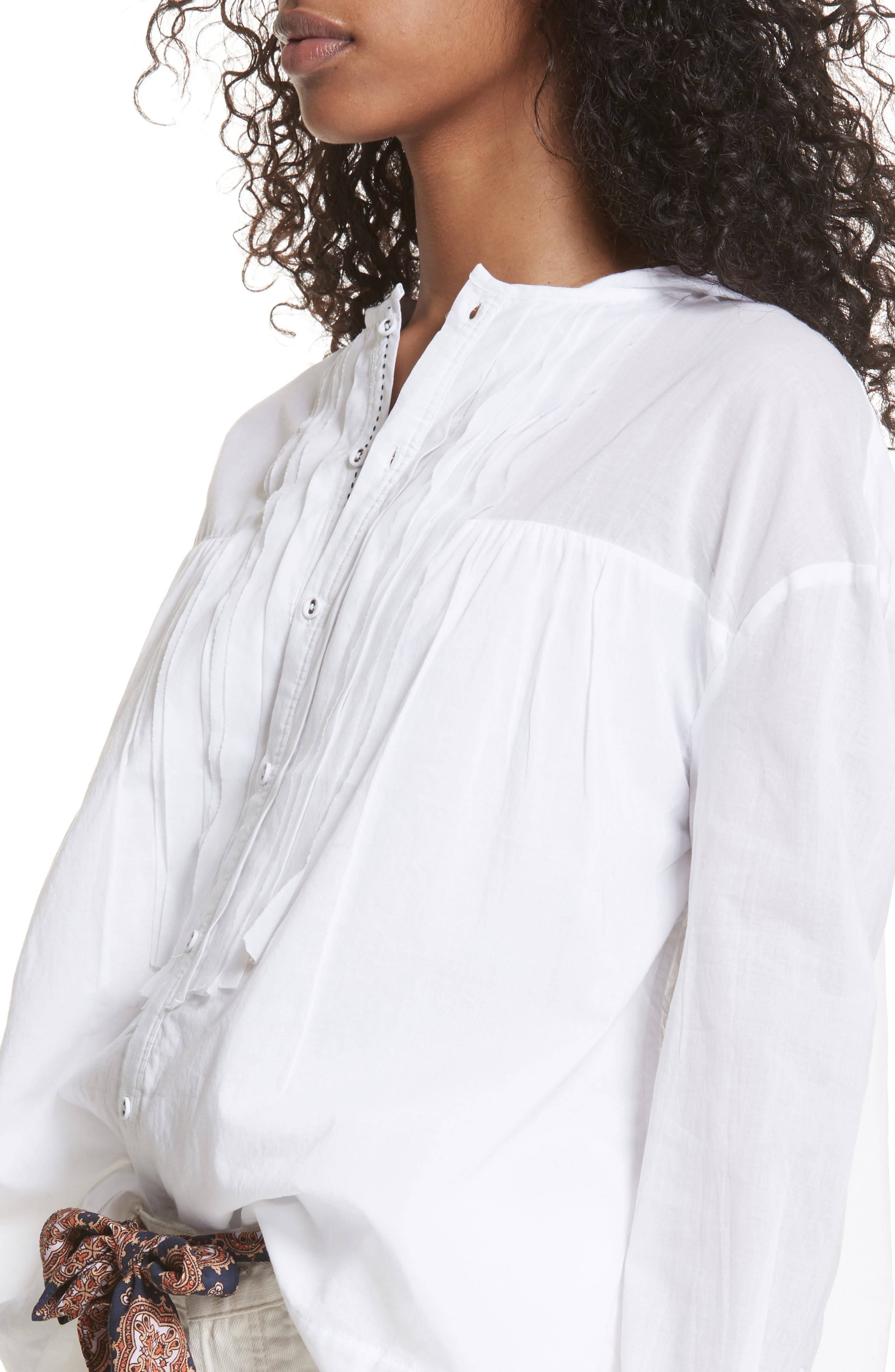 Breezy Hooded Shirt,                             Alternate thumbnail 4, color,                             White