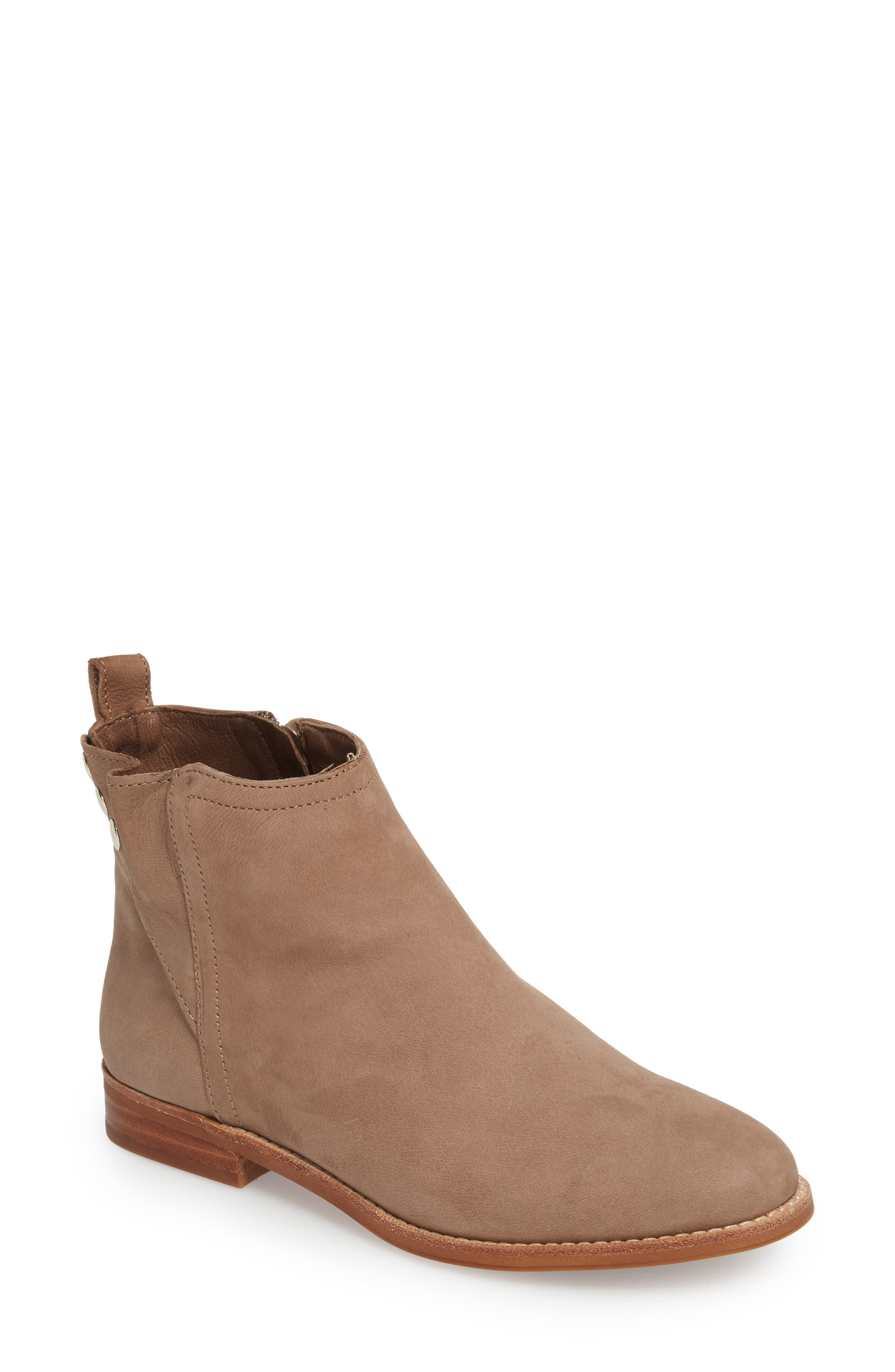 Barbora Gusseted Bootie,                         Main,                         color, Taupe Suede