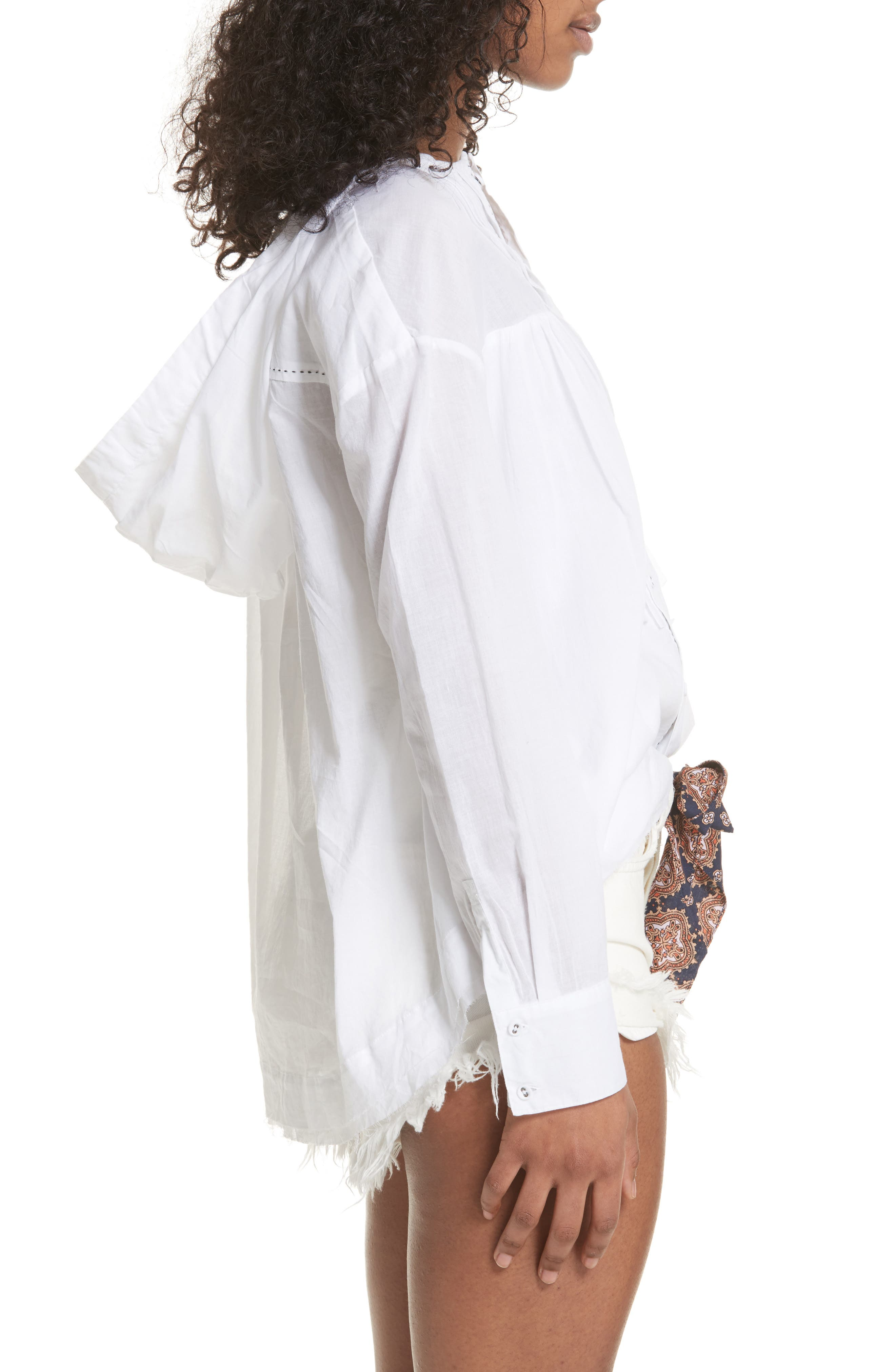 Breezy Hooded Shirt,                             Alternate thumbnail 3, color,                             White