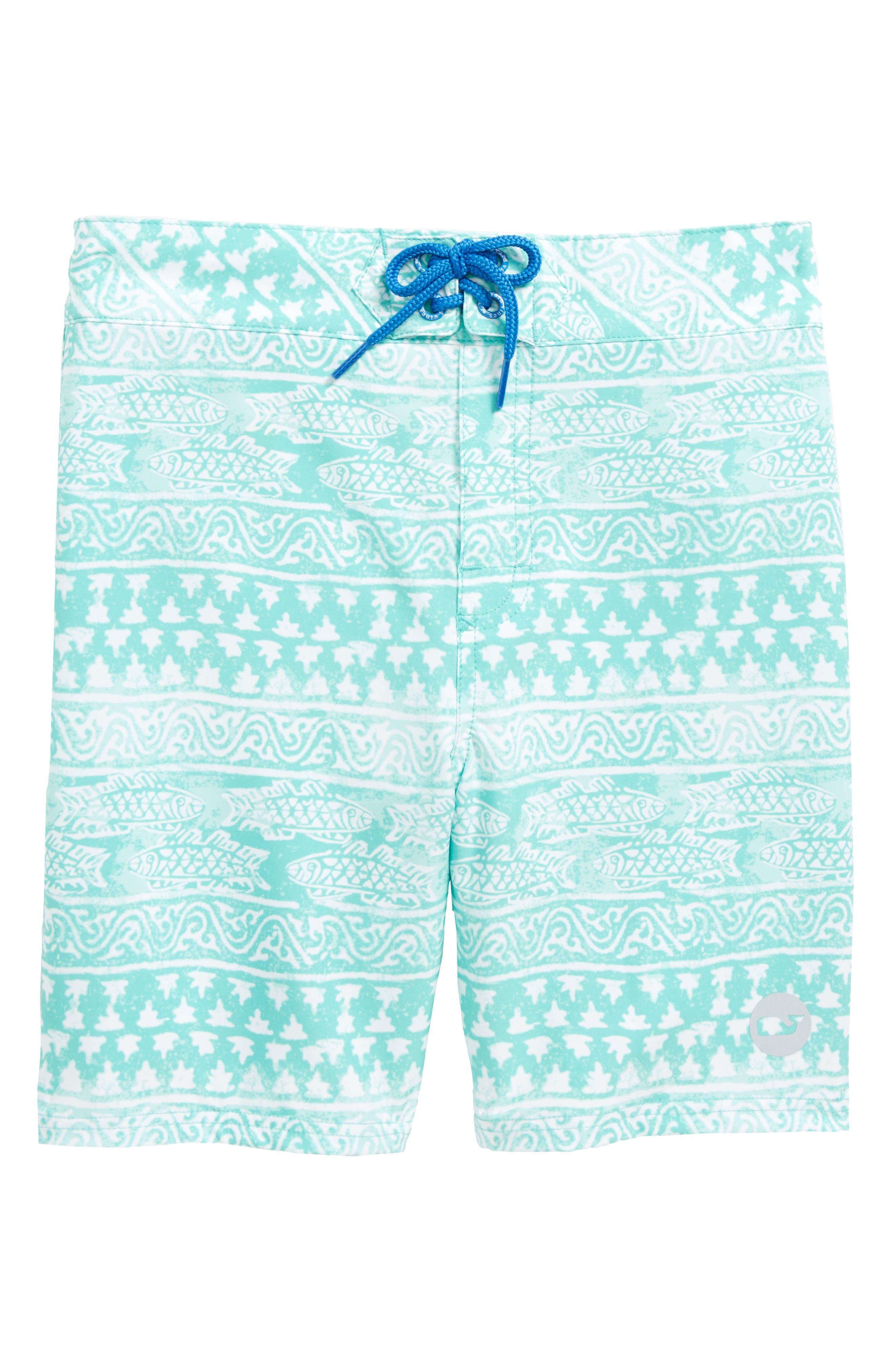 Fish Gate Board Shorts,                             Main thumbnail 1, color,                             Antigua Green