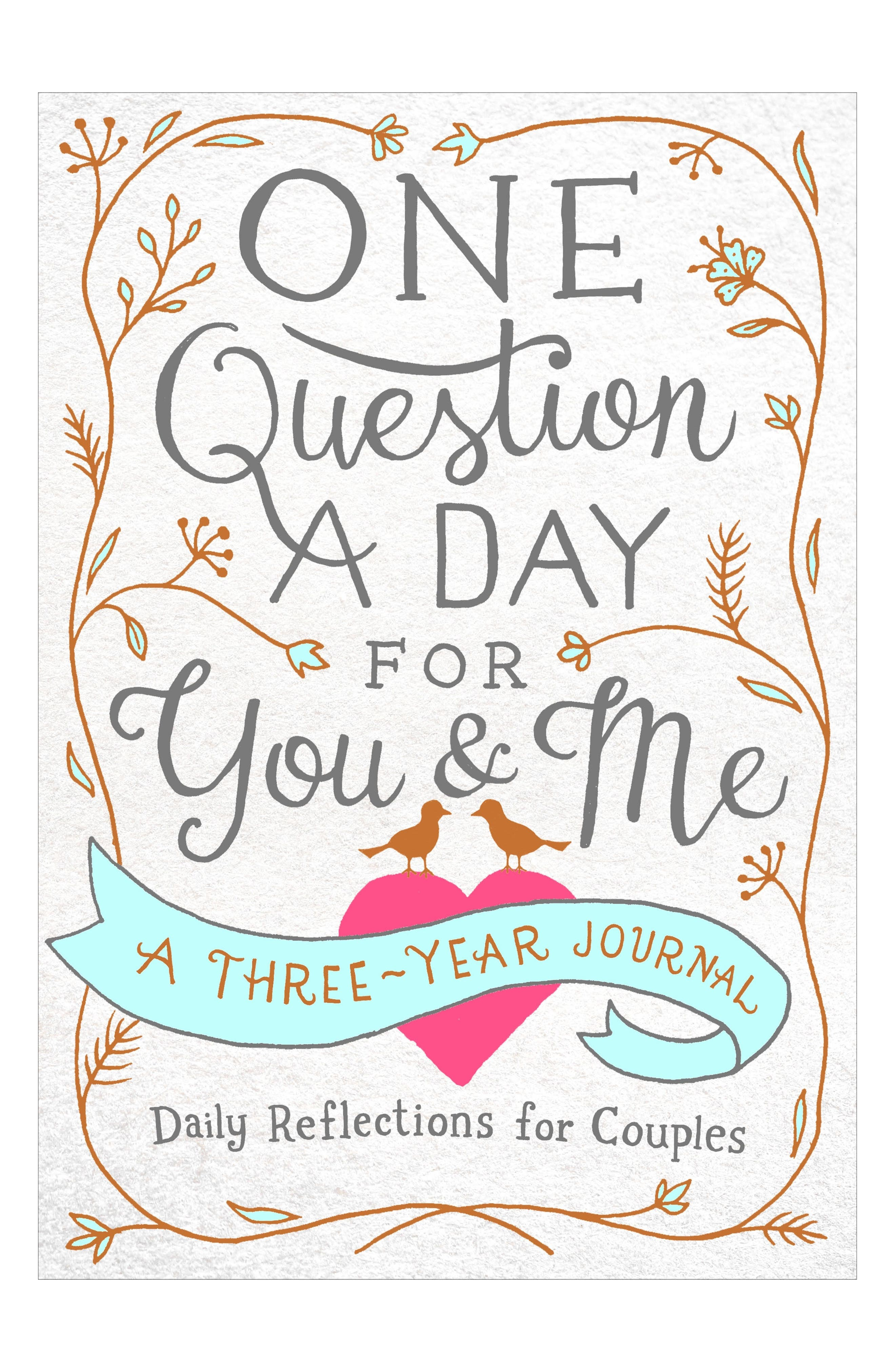 'One Question A Day For You & Me: Daily Reflections for Couples' Three-Year Journal,                             Main thumbnail 1, color,                             White