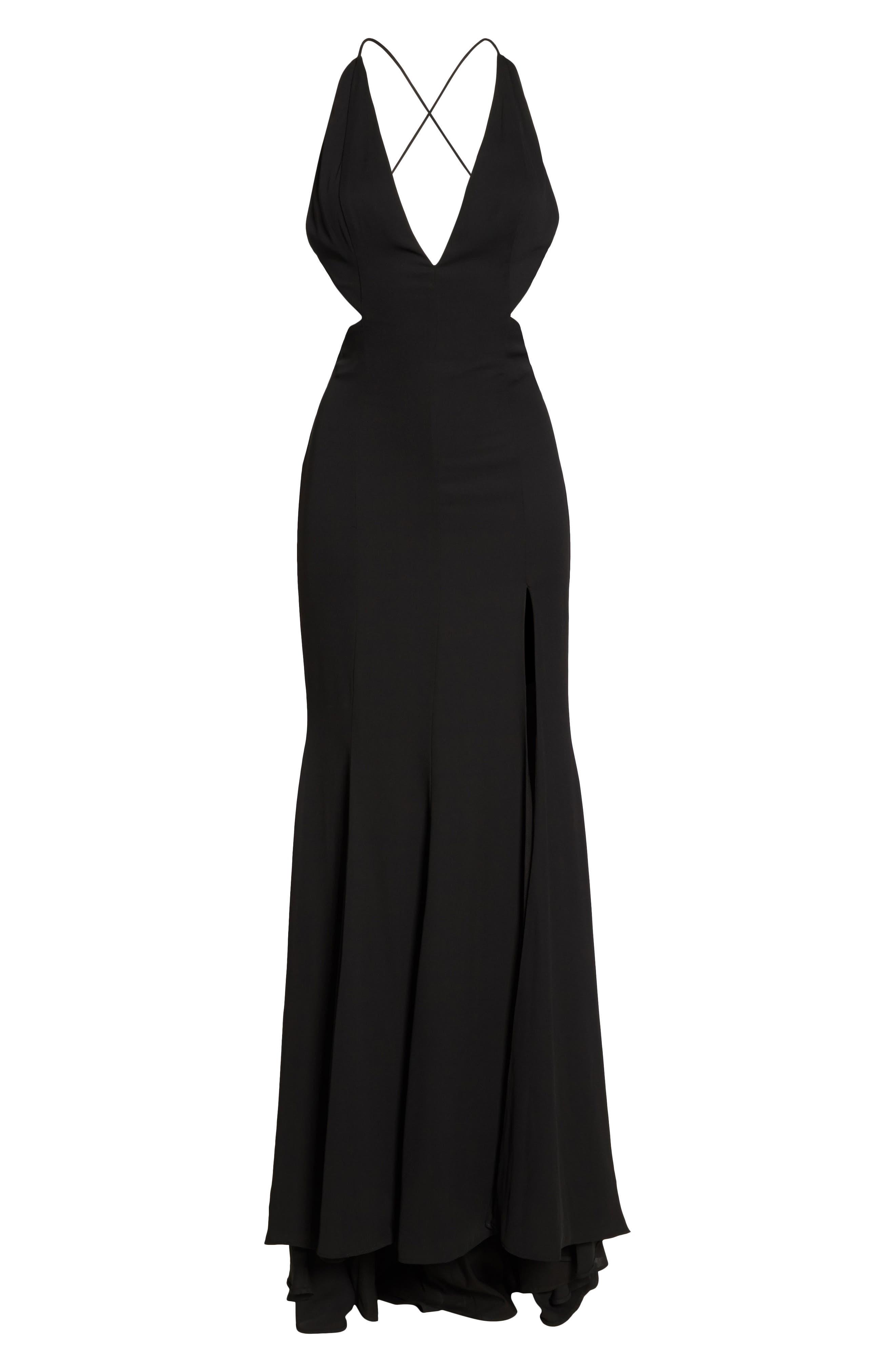 Nikita Gown,                             Alternate thumbnail 6, color,                             Black