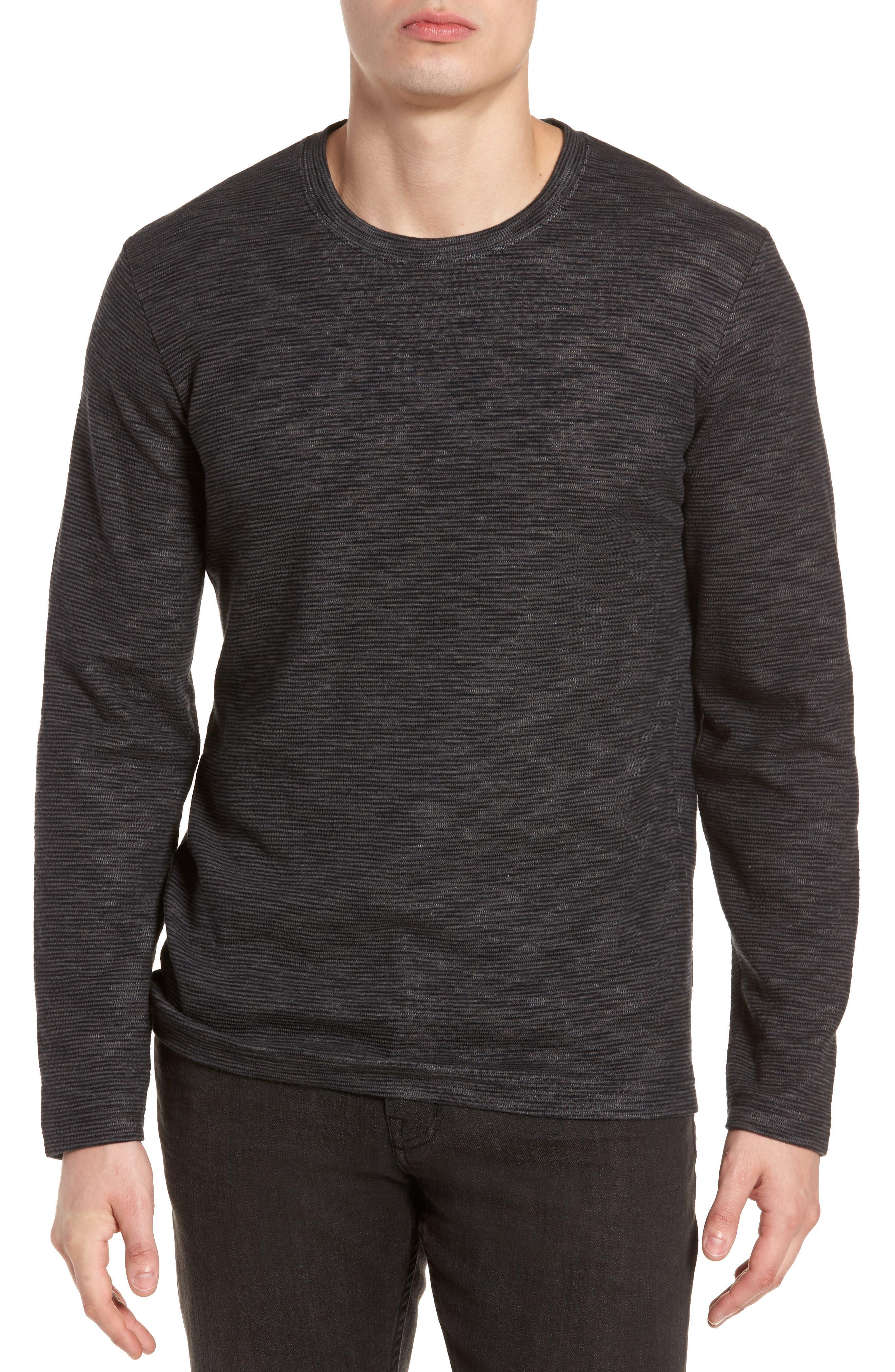 Digs Pullover,                         Main,                         color, Black/ Grey Pinstripe