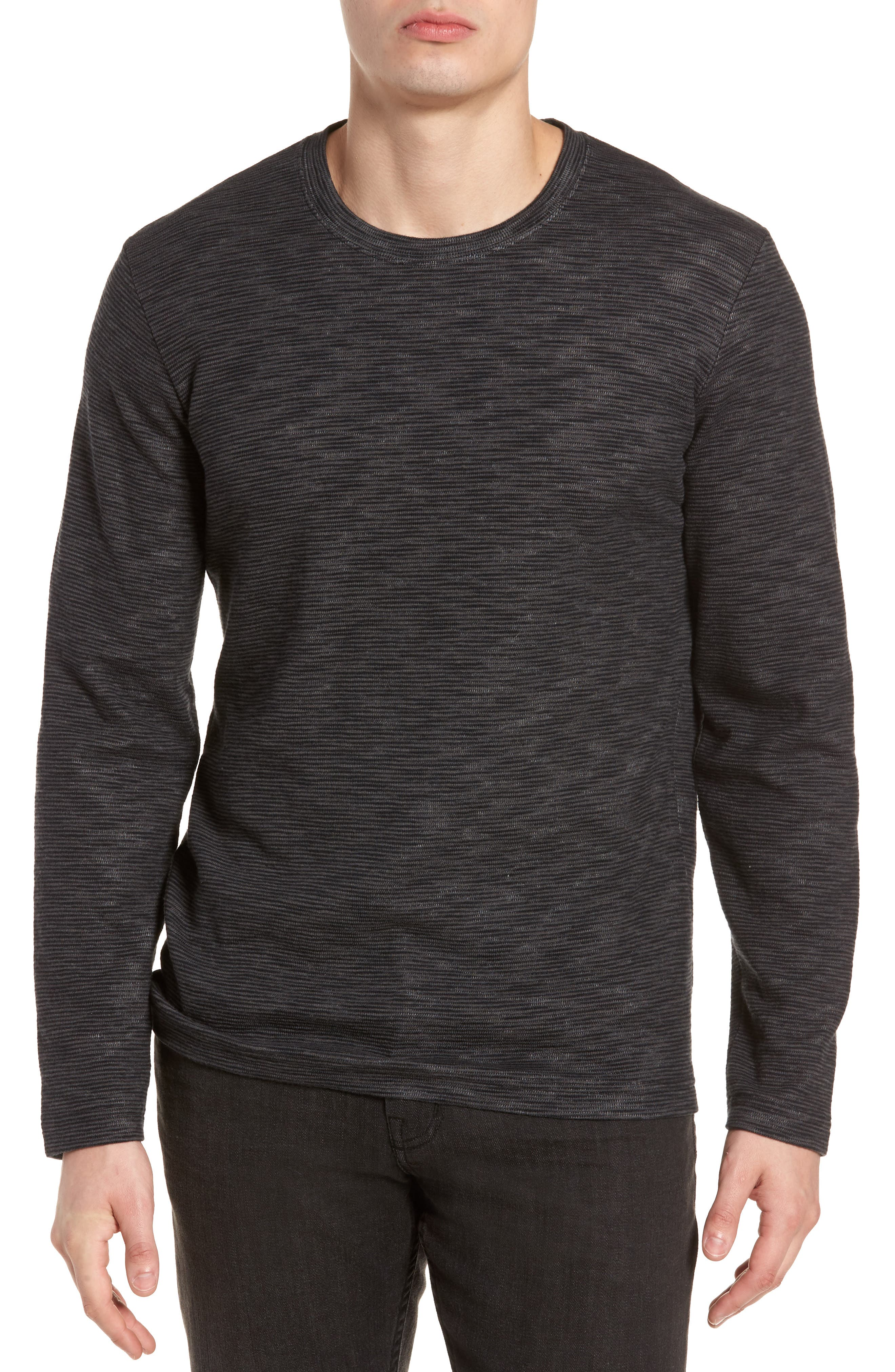 Digs Pullover,                         Main,                         color, Black/ Grey Pinstripe