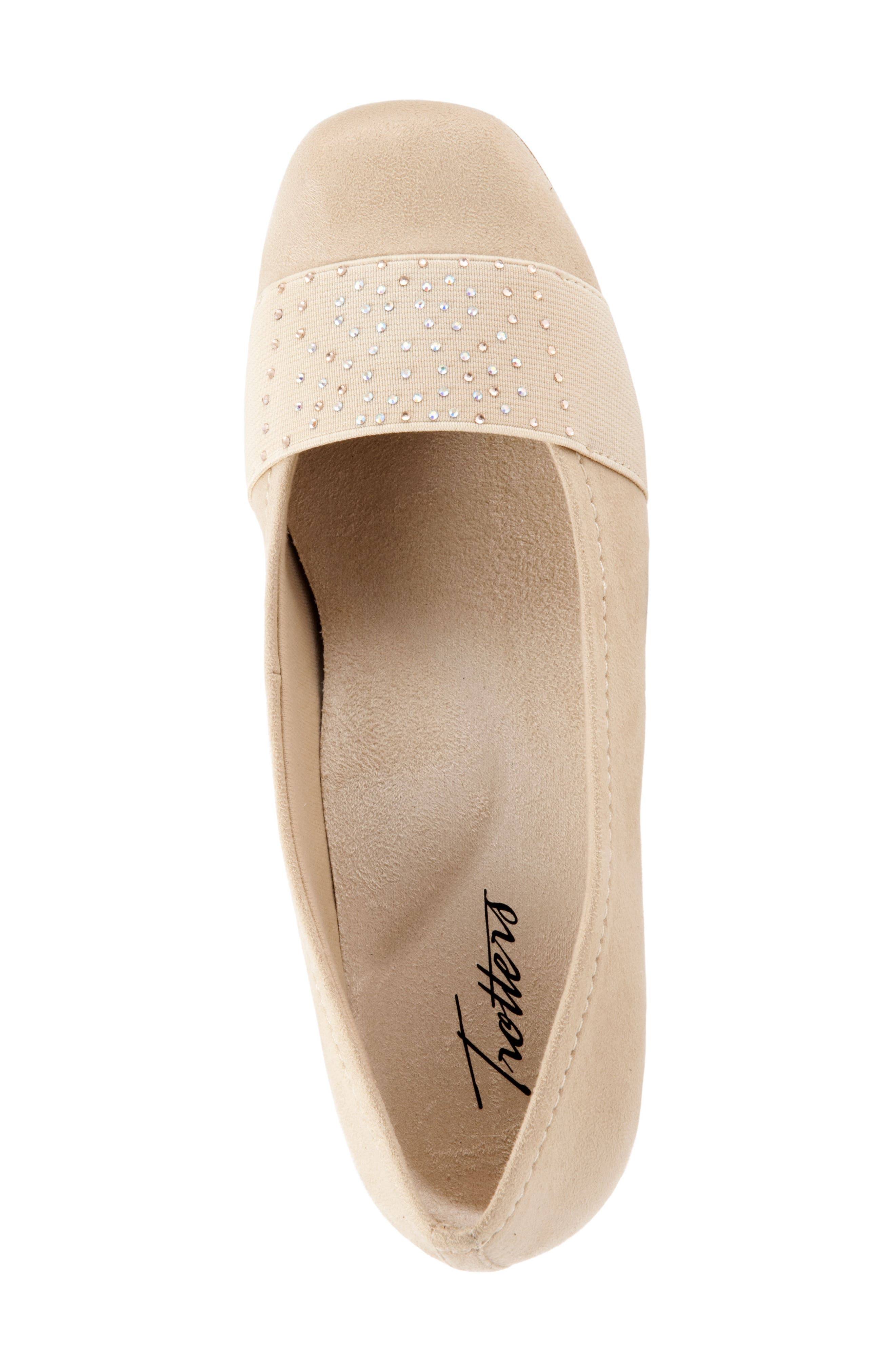 Samantha Flat,                             Alternate thumbnail 5, color,                             Nude Suede
