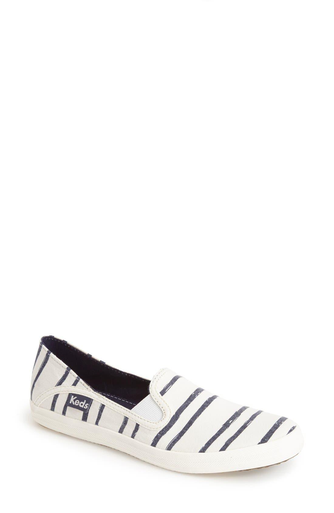 Alternate Image 1 Selected - Keds® 'Crashback - Washed Beach Stripe' Slip-On Sneaker (Women)