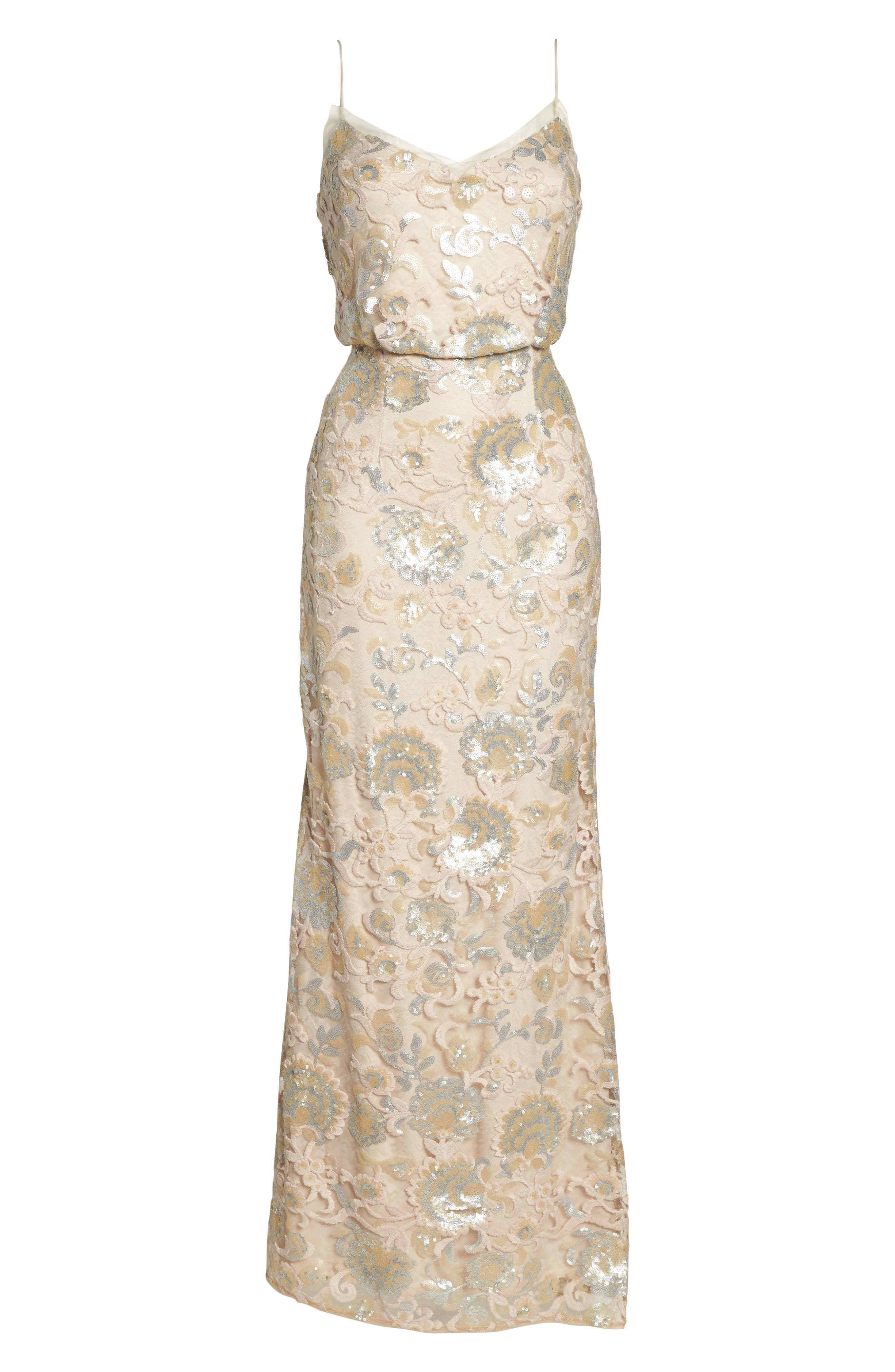 Alternate Image 6  - Adrianna Papell Sequin Embellished Blouson Gown