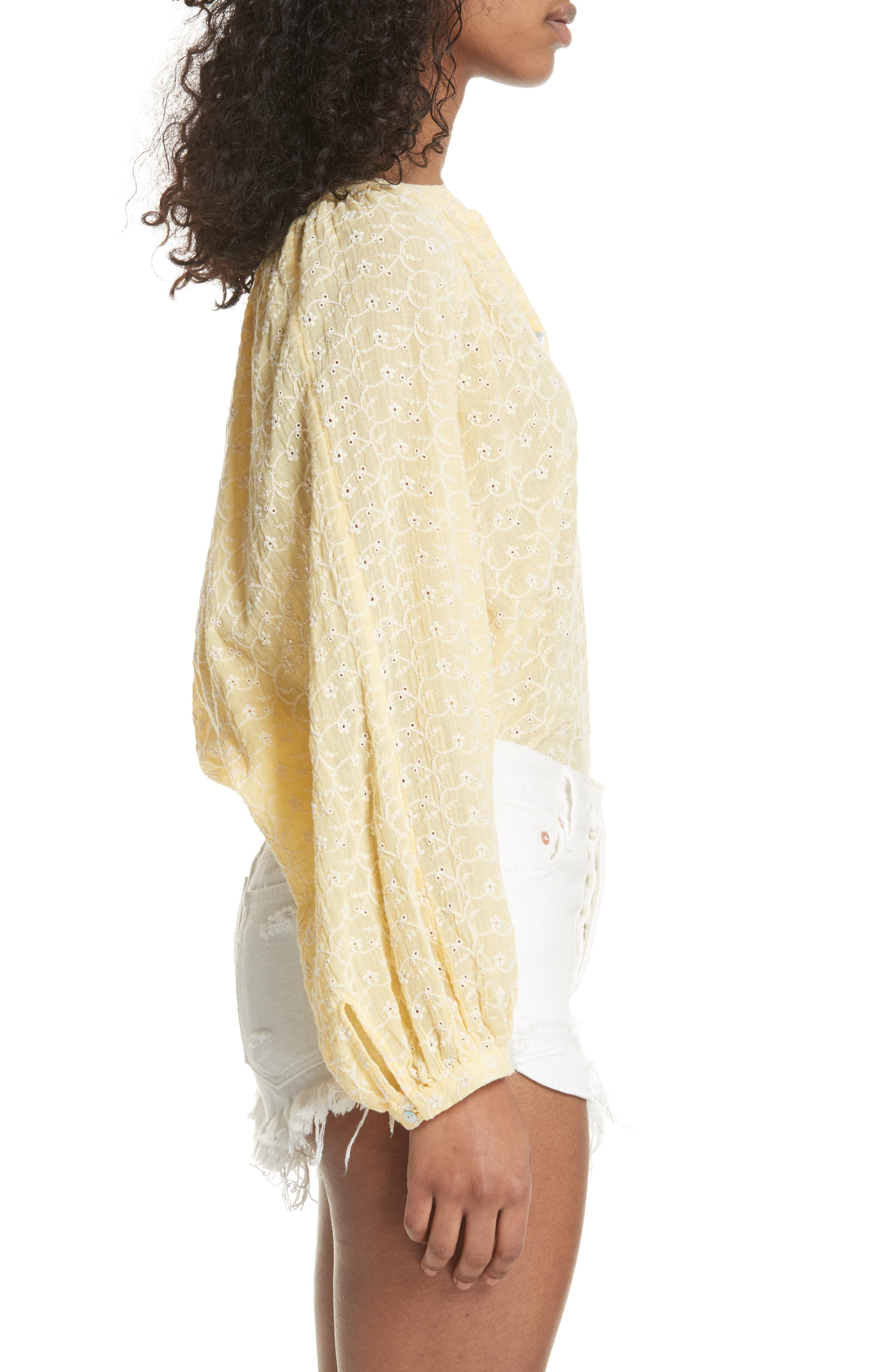 Down from the Clouds Peasant Top,                             Alternate thumbnail 4, color,                             Gold
