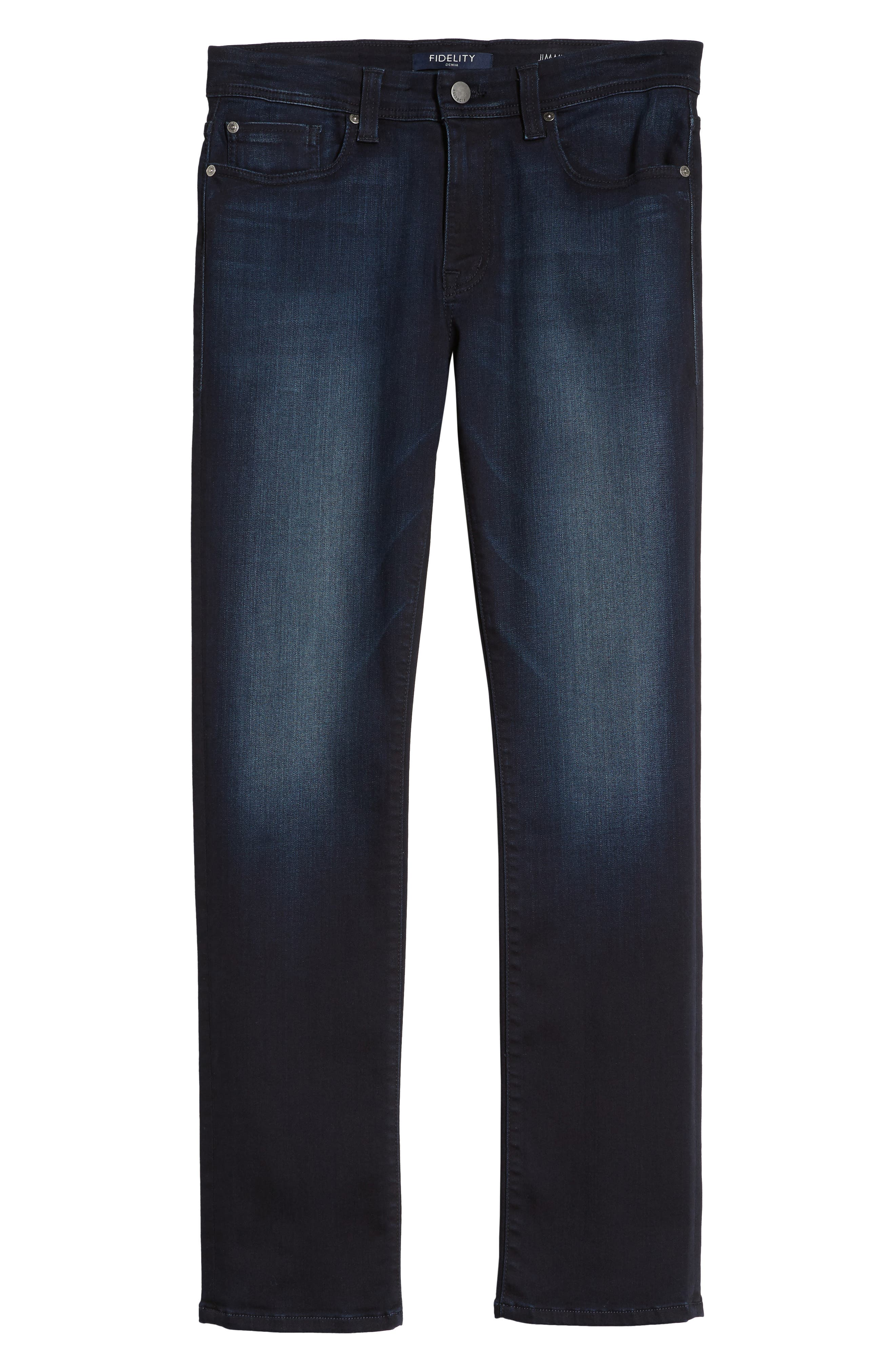 Jimmy Slim Straight Fit Jeans,                             Alternate thumbnail 6, color,                             Barracuda