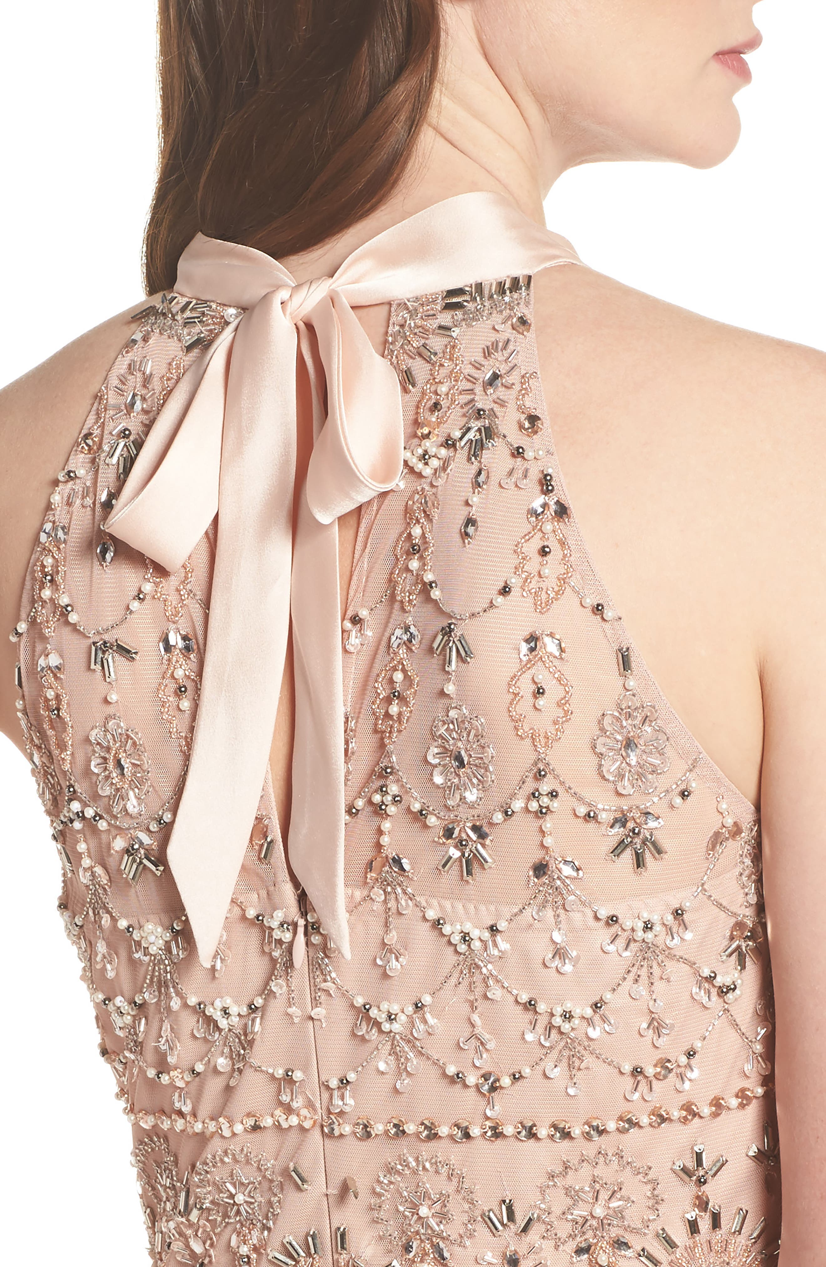 Embellished Tiered Maxi Dress,                             Alternate thumbnail 4, color,                             Blush