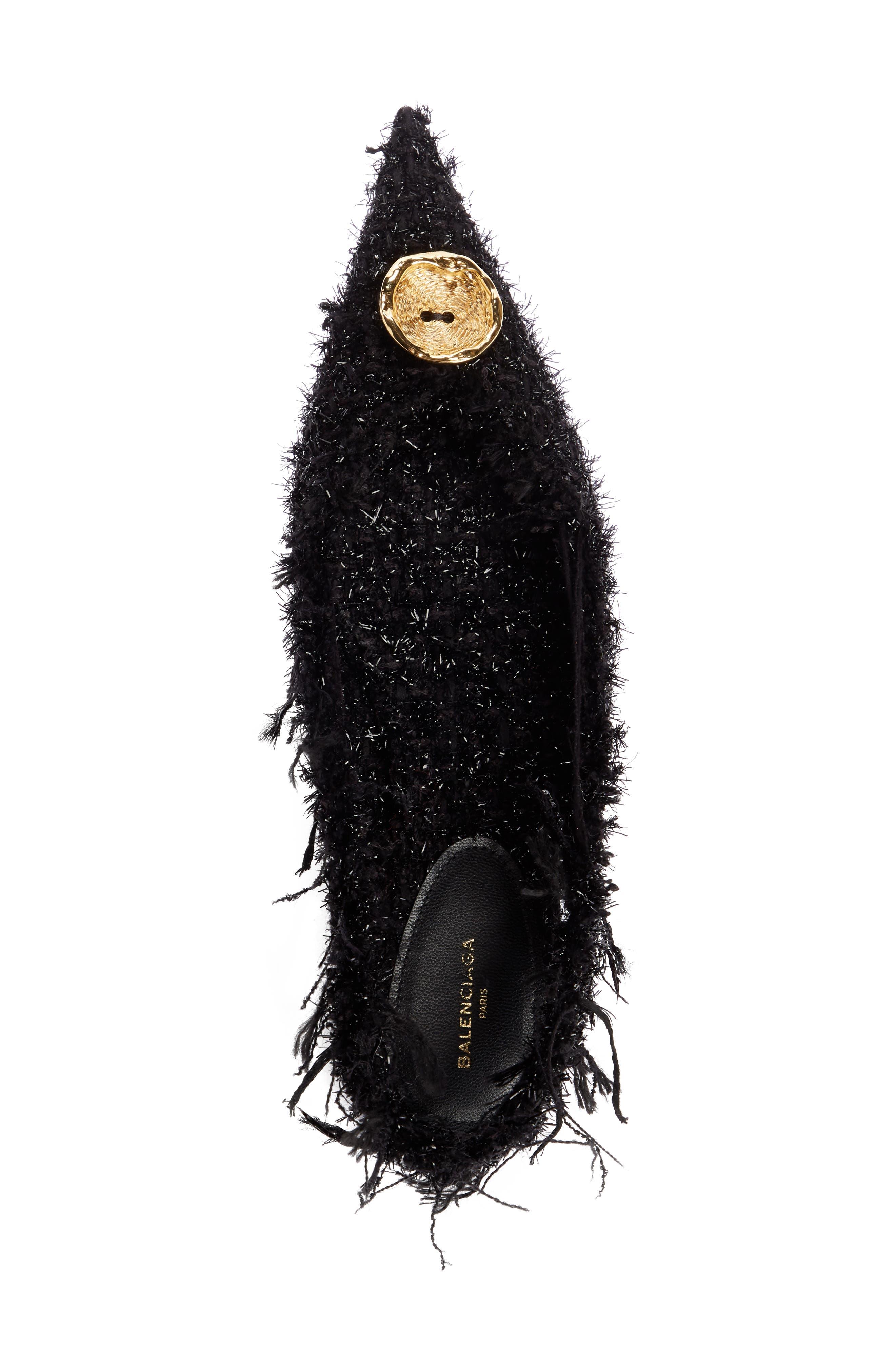 Alternate Image 3  - Balenciaga Tweed Pointy Toe Slingback Flat (Women)