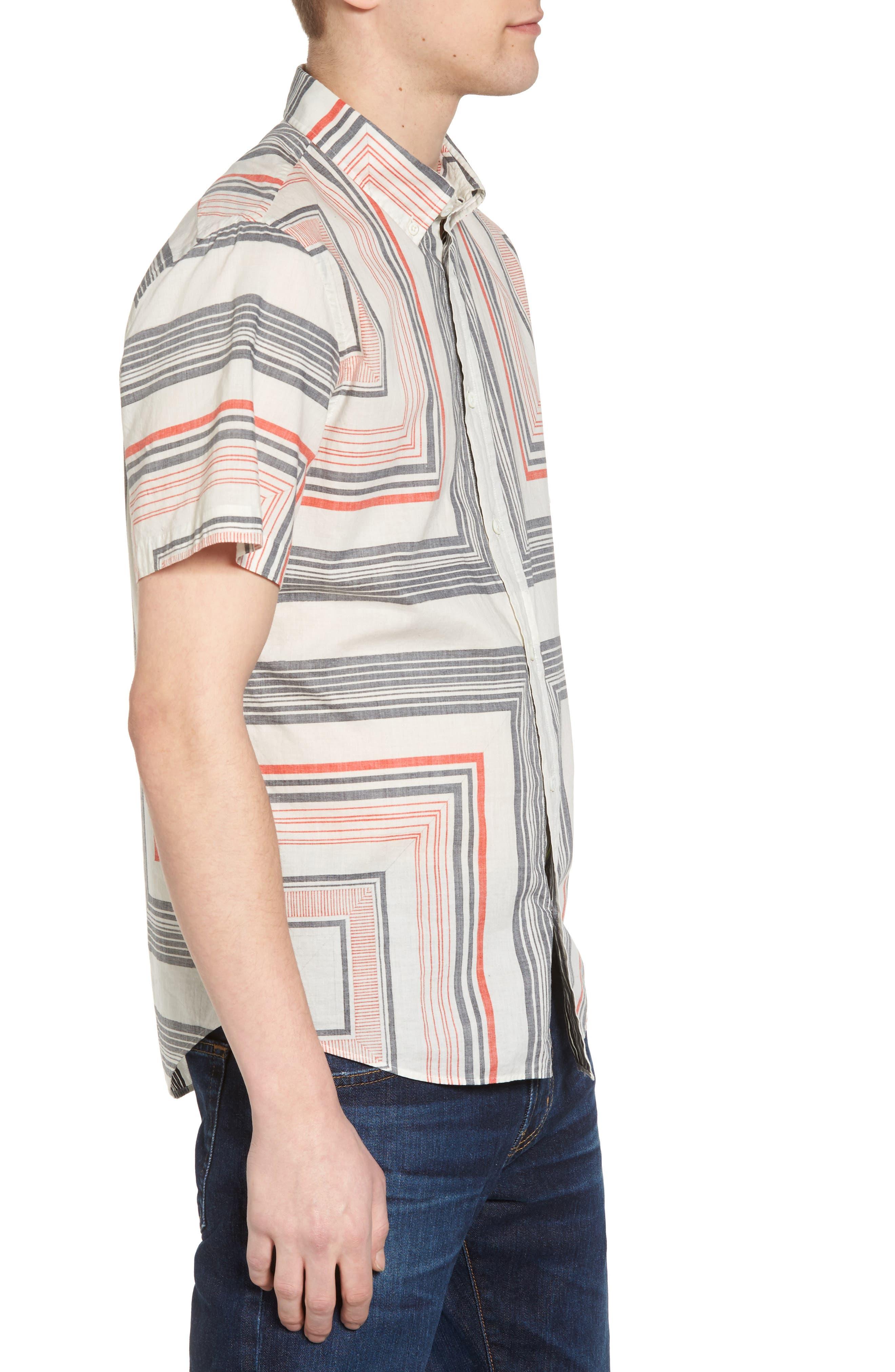 Alternate Image 3  - Billy Reid Murphy Stripe Print Sport Shirt