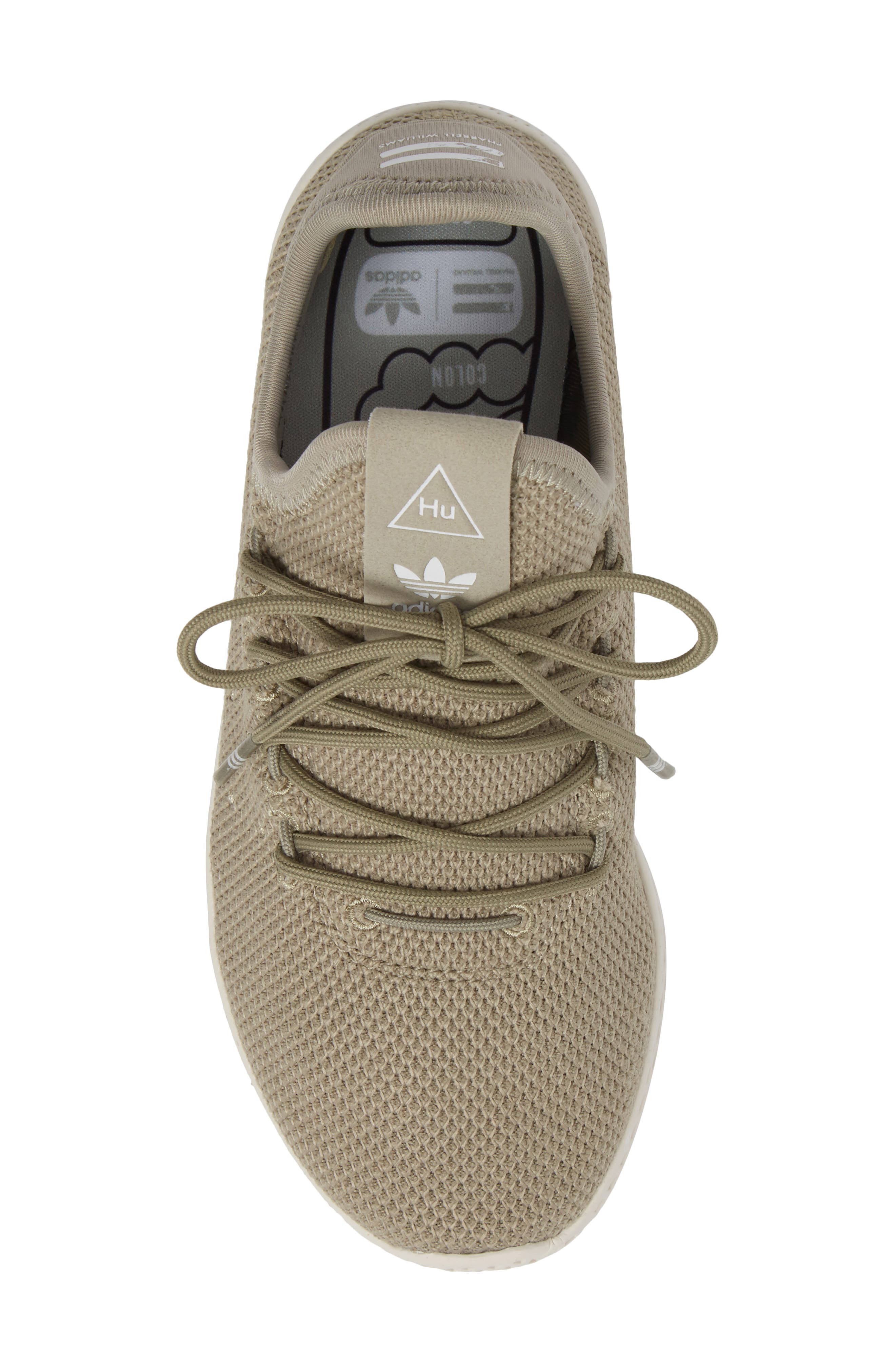 Pharrell Williams Tennis Hu Sock Sneaker,                             Alternate thumbnail 5, color,                             Tech Beige/ Chalk White