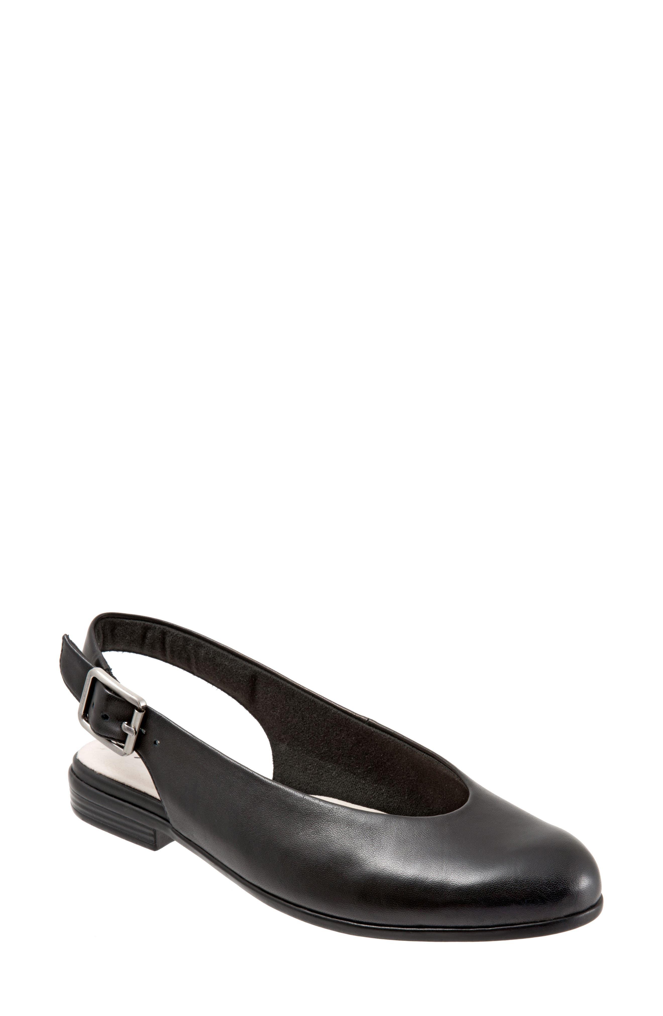 Alice Flat,                         Main,                         color, Black Leather