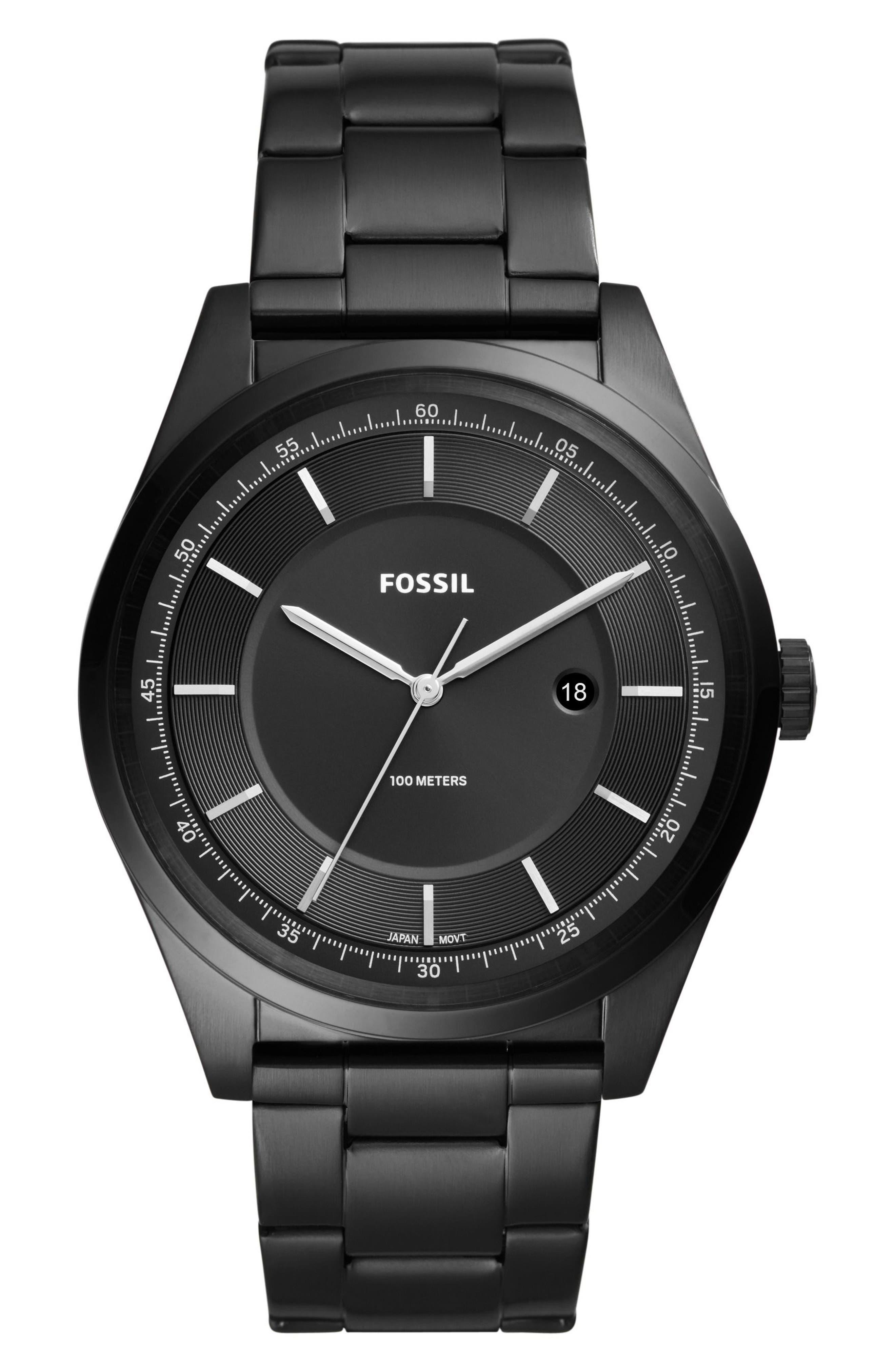 Mathis Bracelet Watch, 44mm,                         Main,                         color, Black