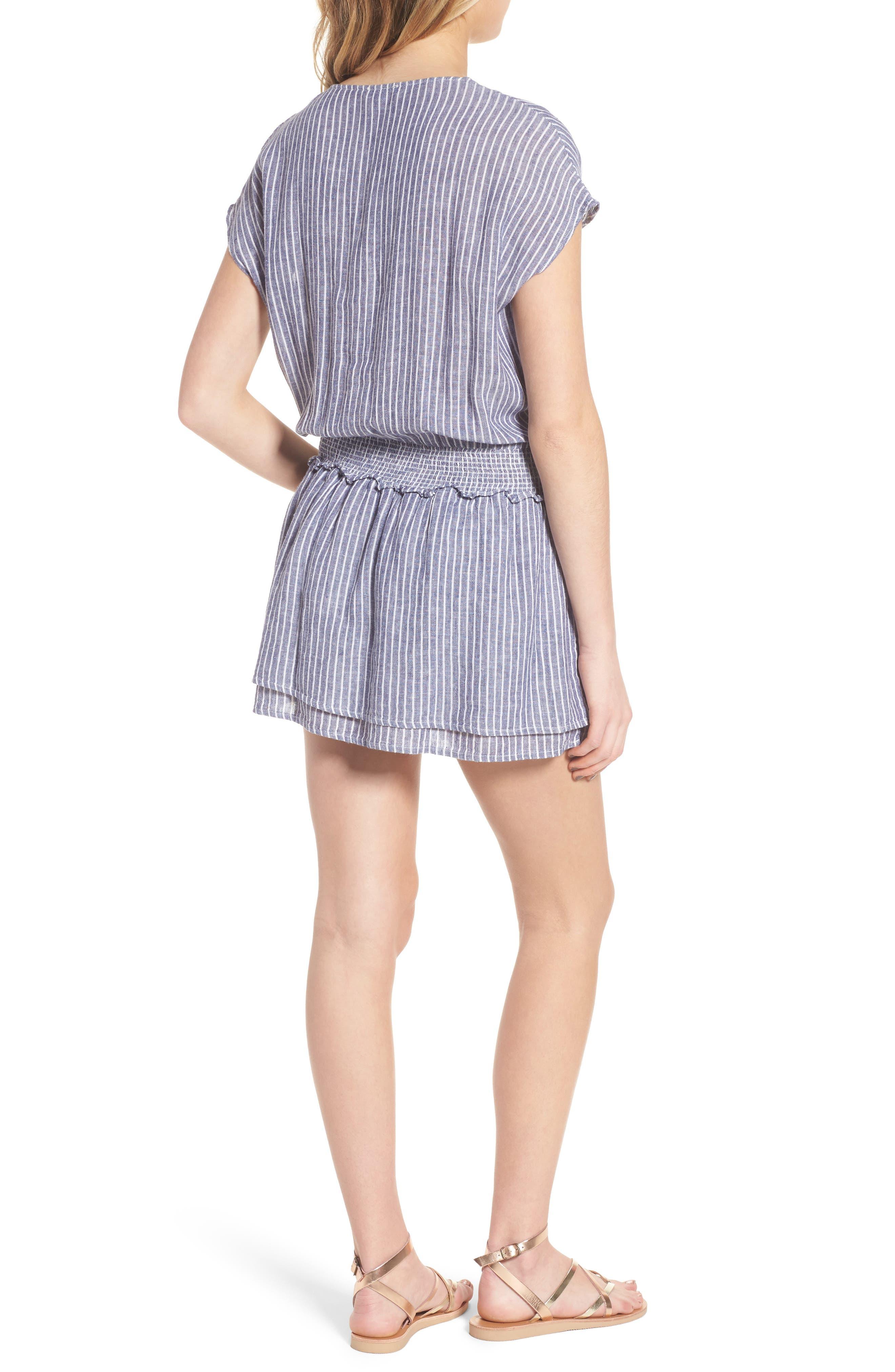 Lucca Linen Blend Dress,                             Alternate thumbnail 2, color,                             Terrenas Stripe