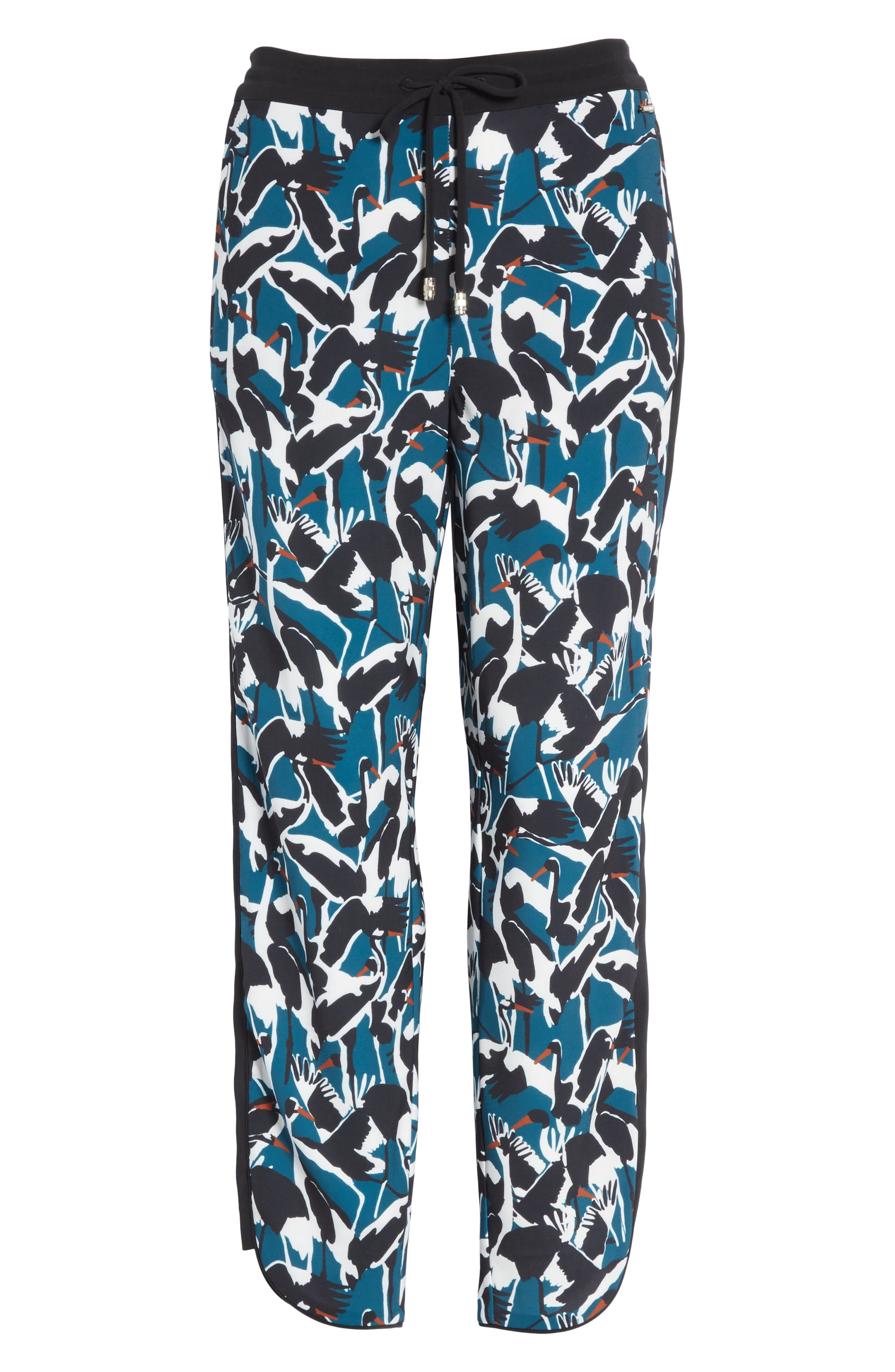 Colour by Numbers Print Jogger Pants,                             Alternate thumbnail 6, color,                             Teal
