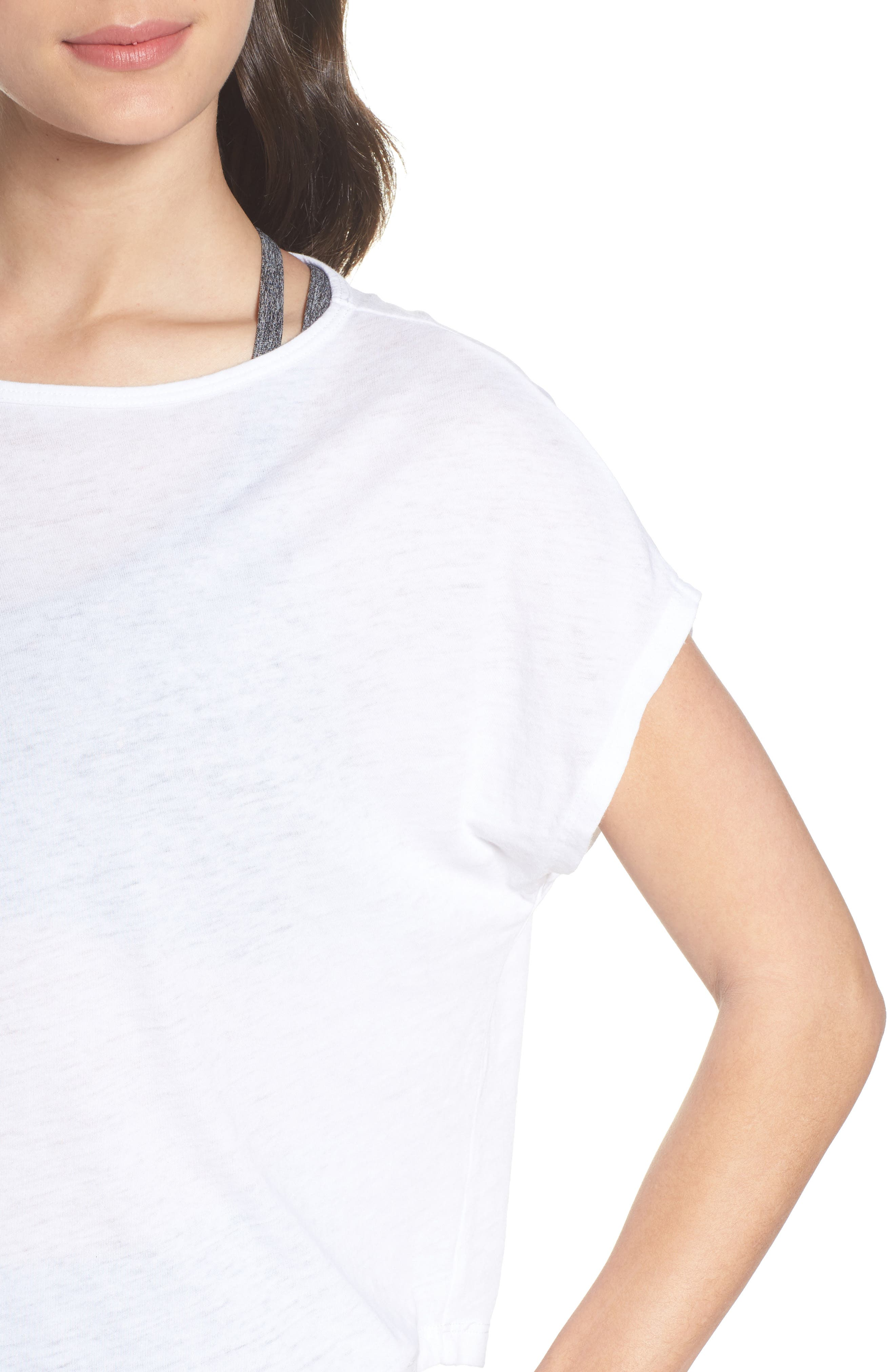 Perfect Layer Tee,                             Alternate thumbnail 4, color,                             White