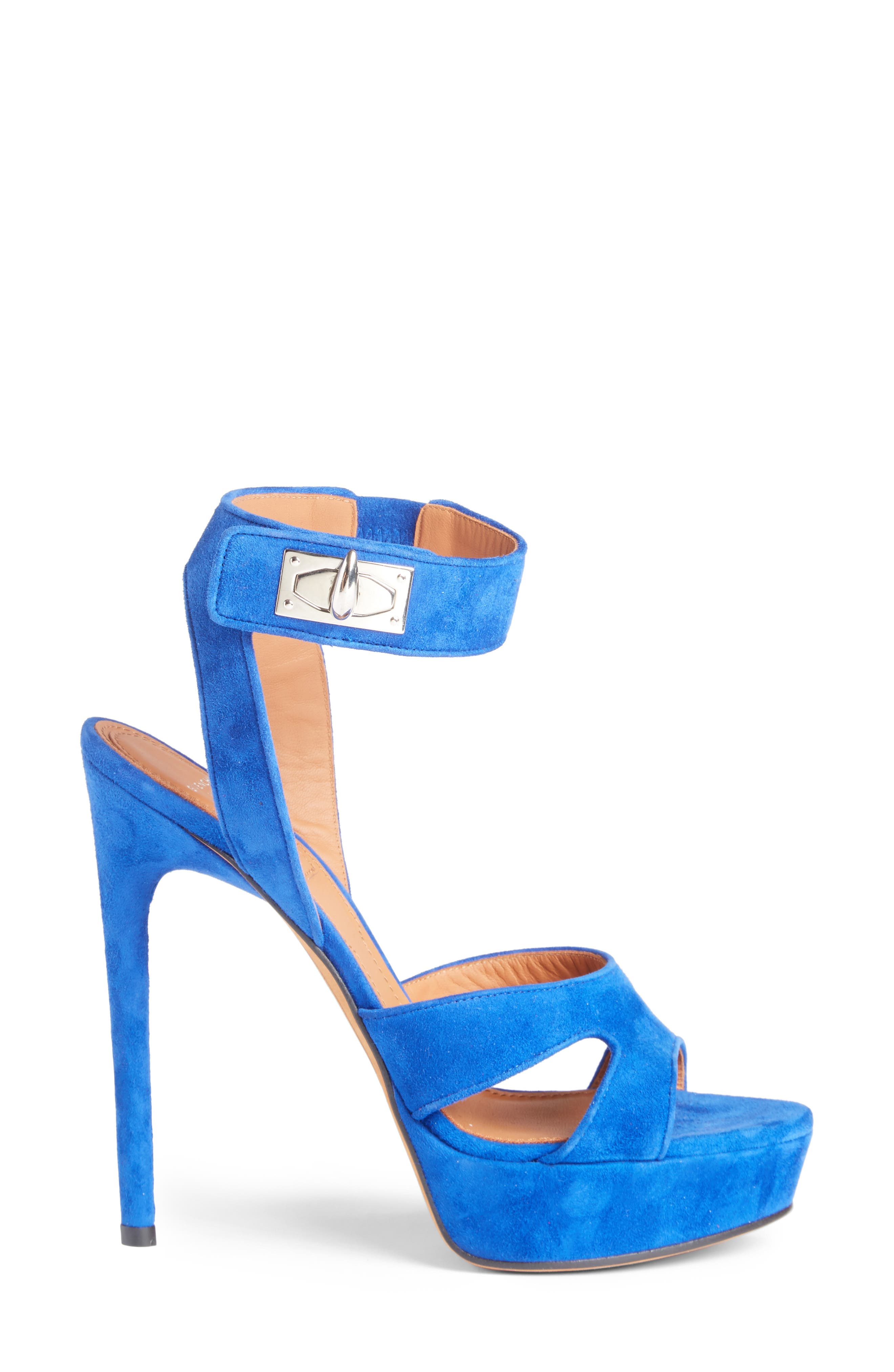 Shark's Tooth Sandal,                             Alternate thumbnail 4, color,                             Electric Blue