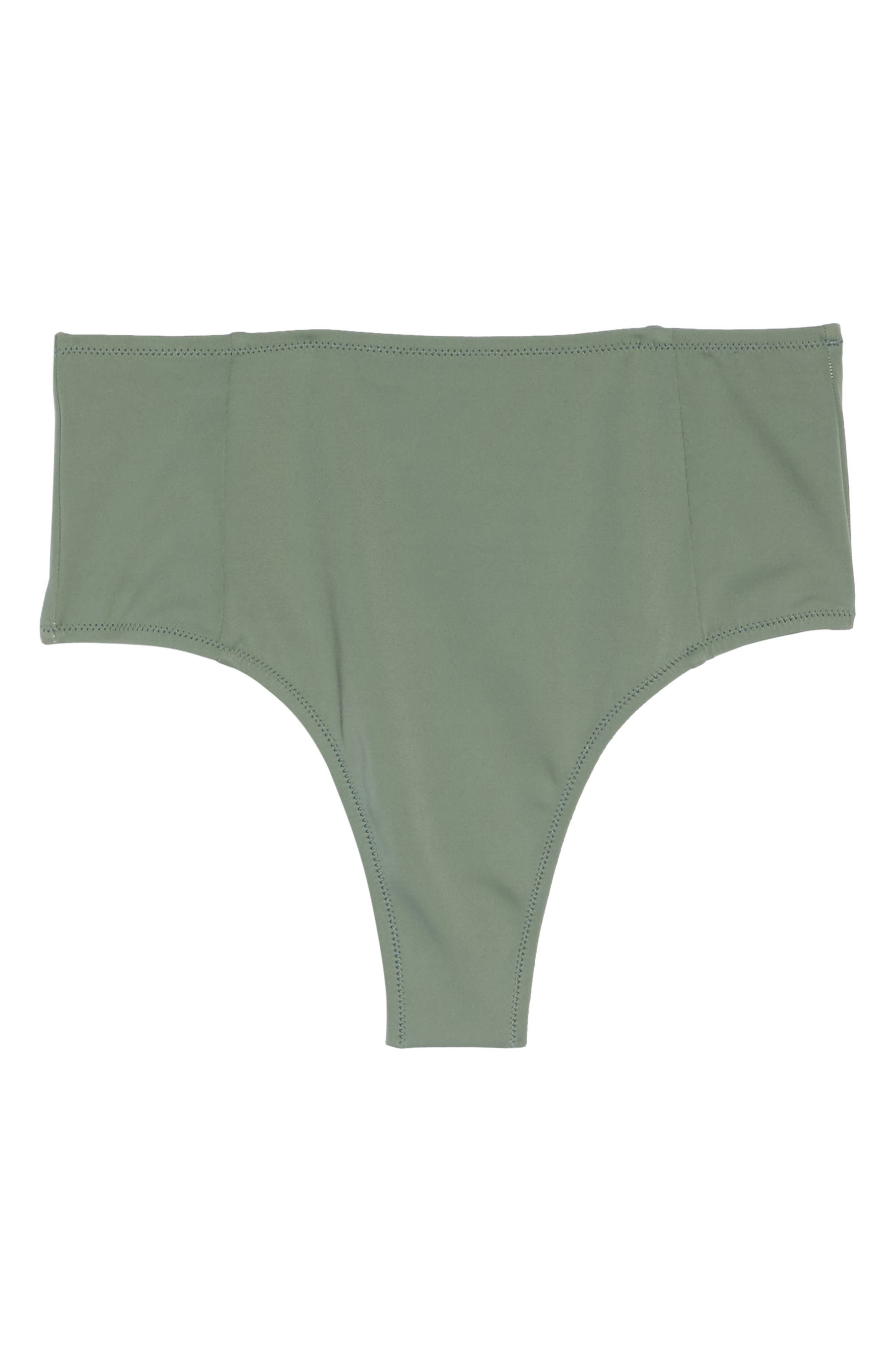 The Jessica High Waist Bikini Bottoms,                             Alternate thumbnail 9, color,                             Green