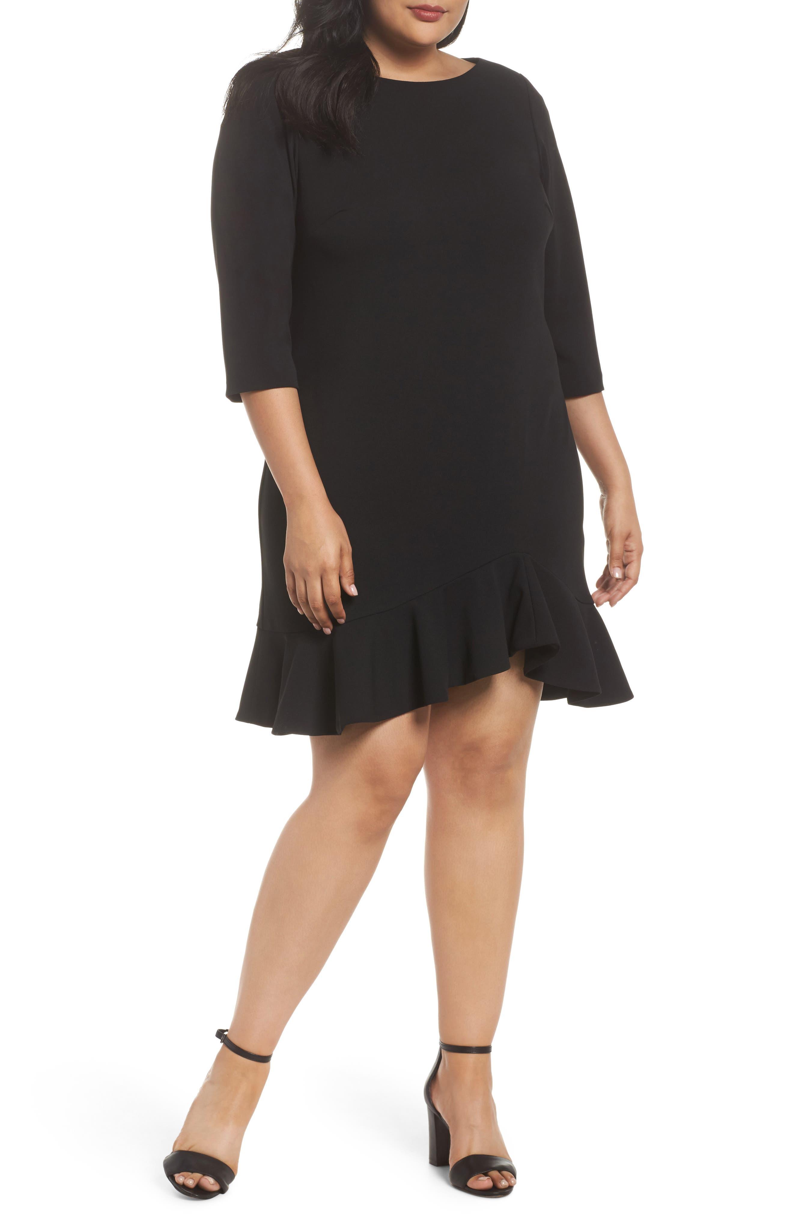 Alternate Image 1 Selected - Vince Camuto Scuba Crepe Sheath Dress (Plus Size)