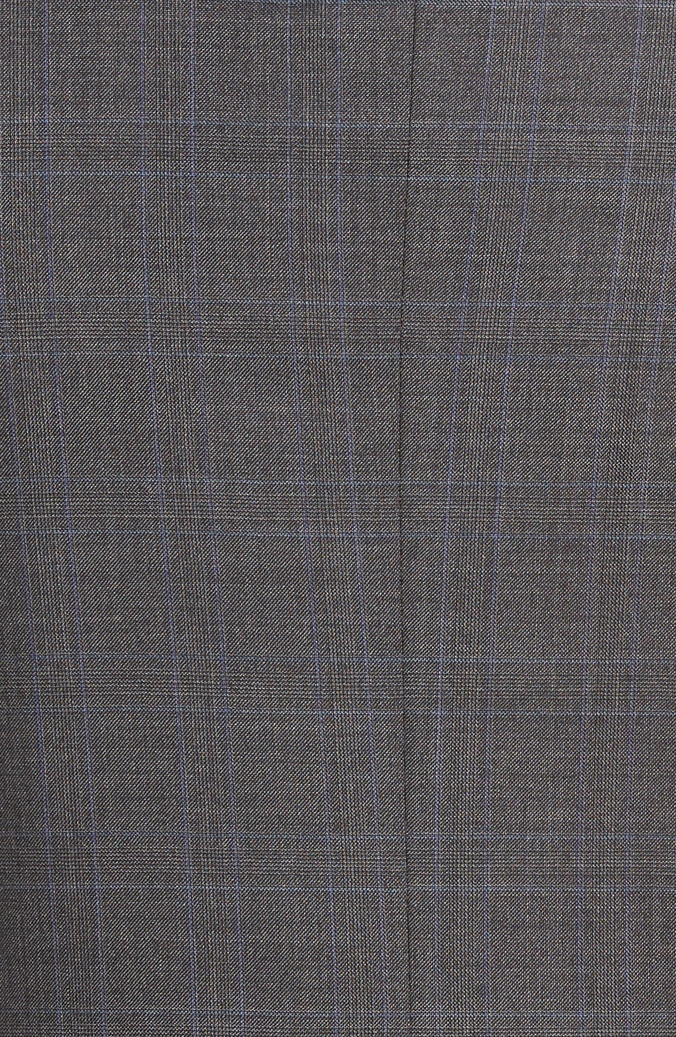 Classic Fit Windowpane Wool Suit,                             Alternate thumbnail 7, color,                             Grey