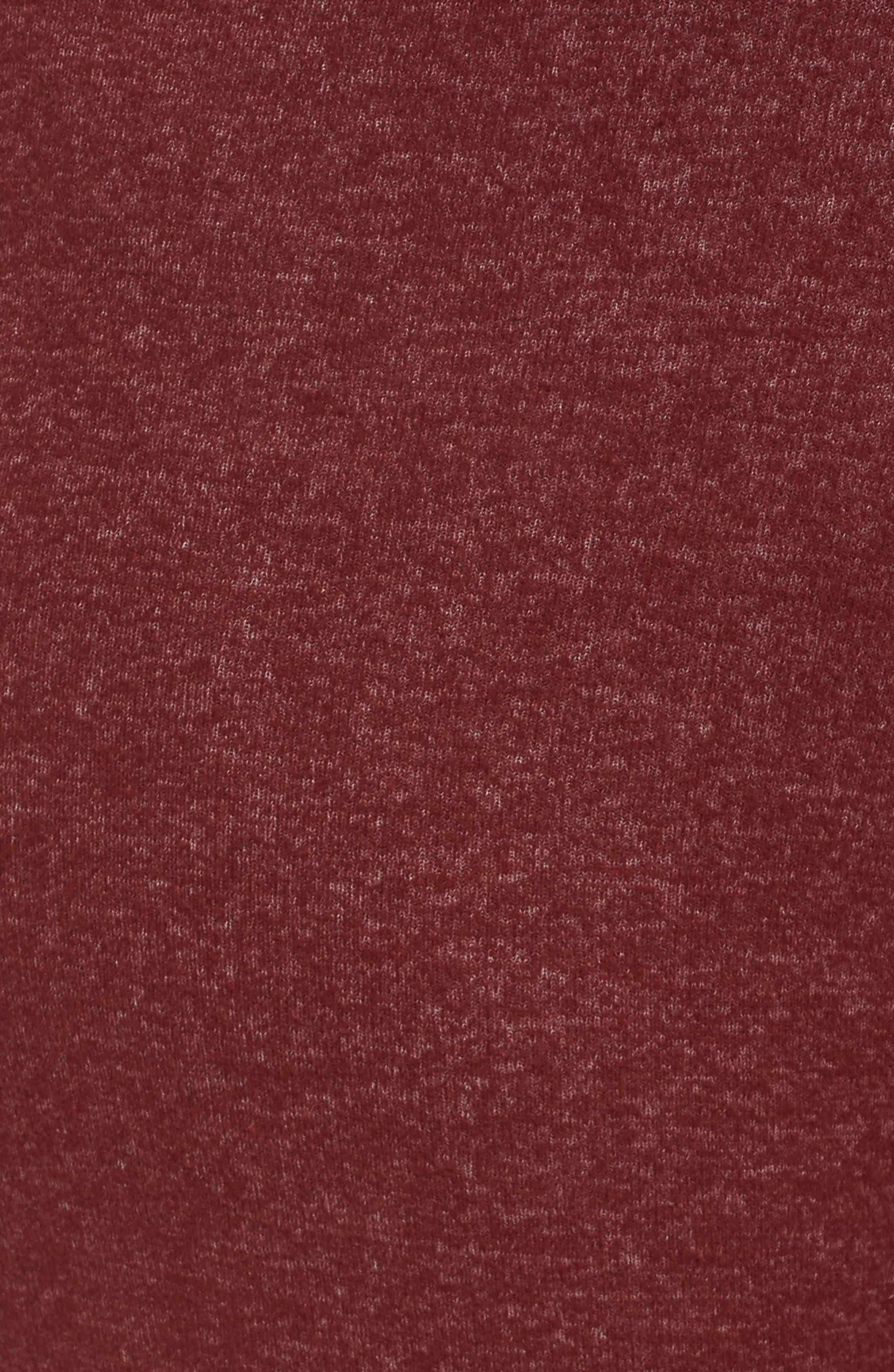 'Best Boyfriend' Brushed Hacci Lounge Pants,                             Alternate thumbnail 6, color,                             Red Grape