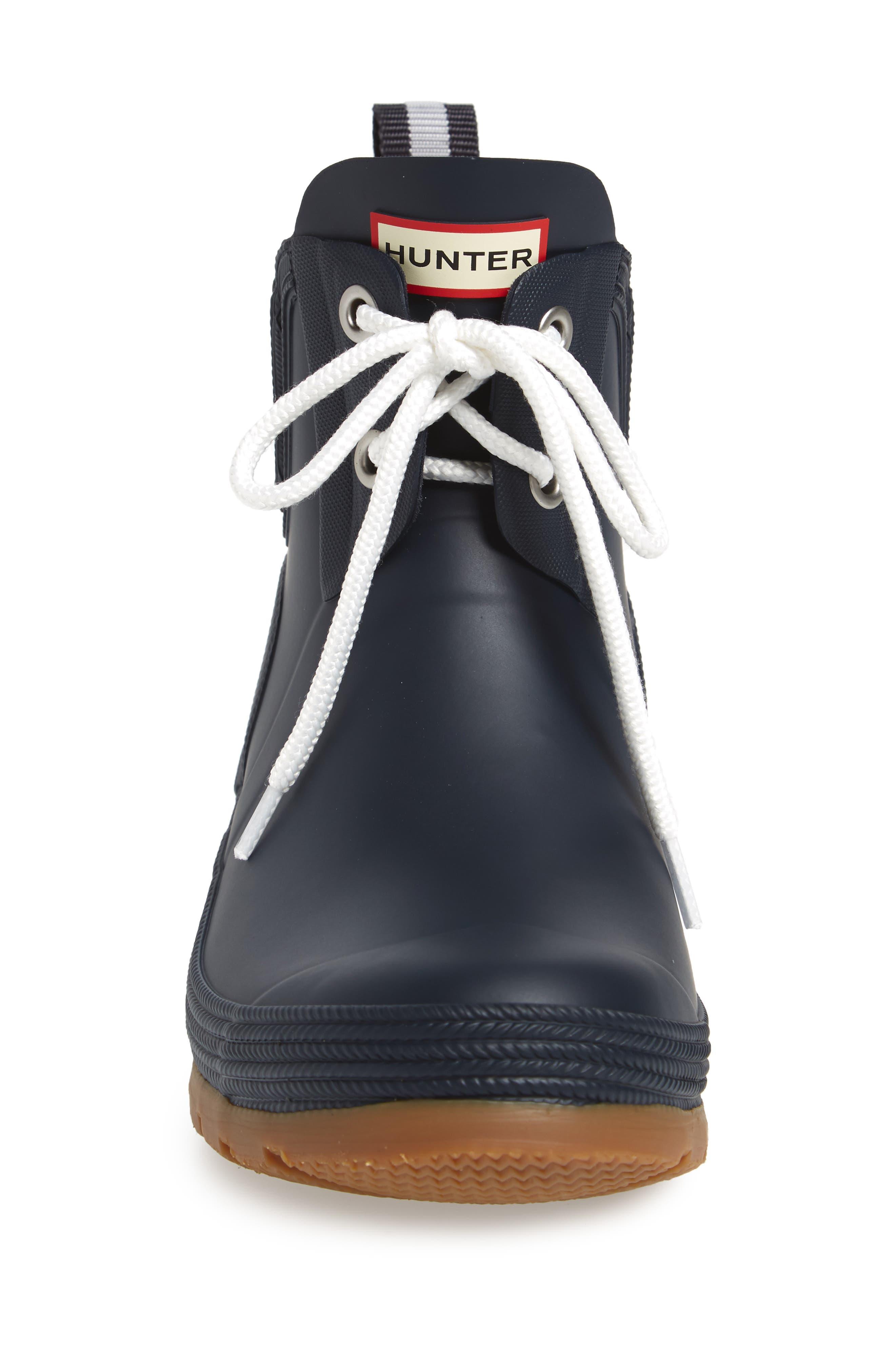 Original Sissinghurst Waterproof Pull-On Boot,                             Alternate thumbnail 4, color,                             Navy/ Gum