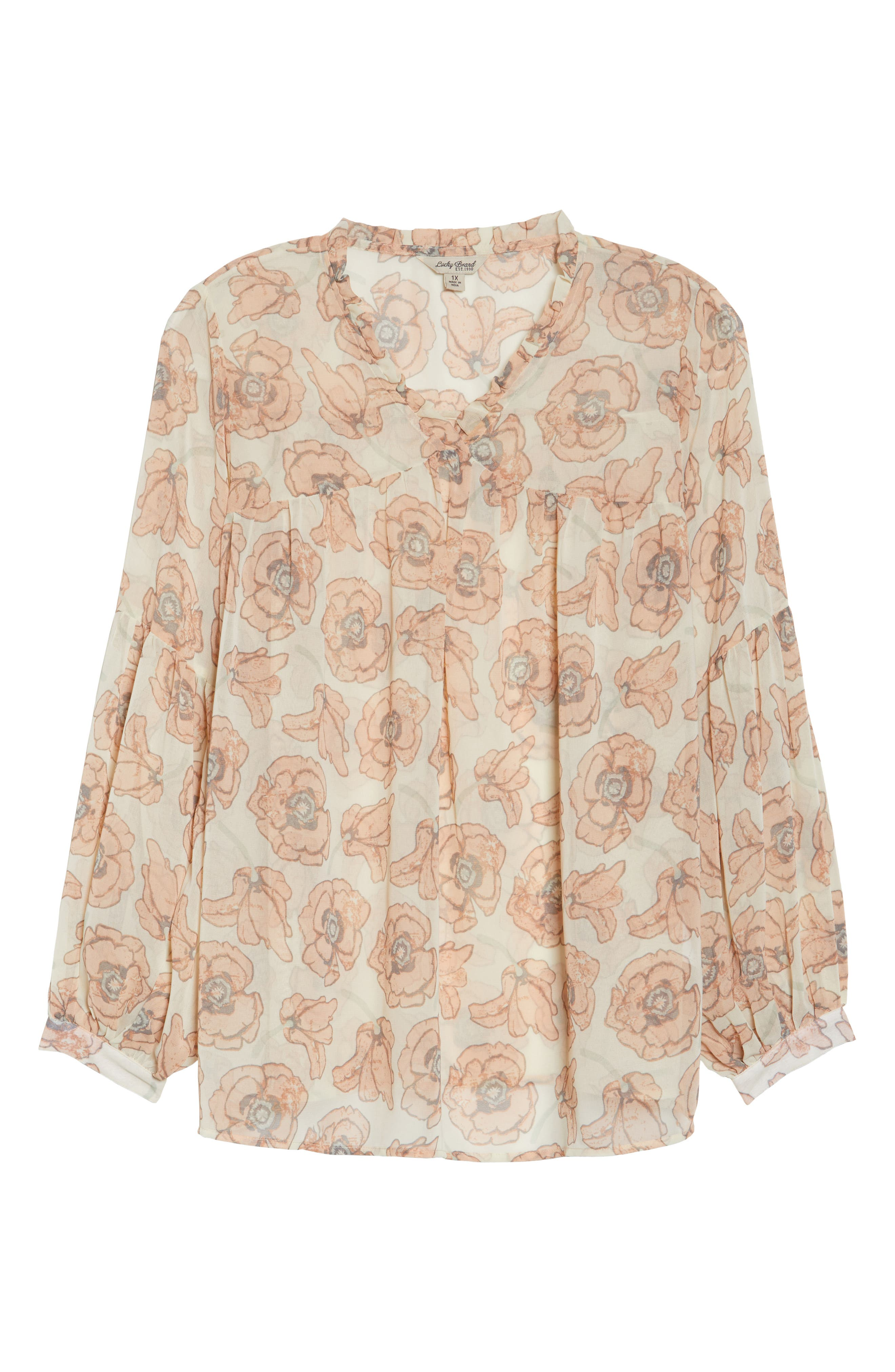 Exploded Floral Top,                             Alternate thumbnail 6, color,                             Pink Multi