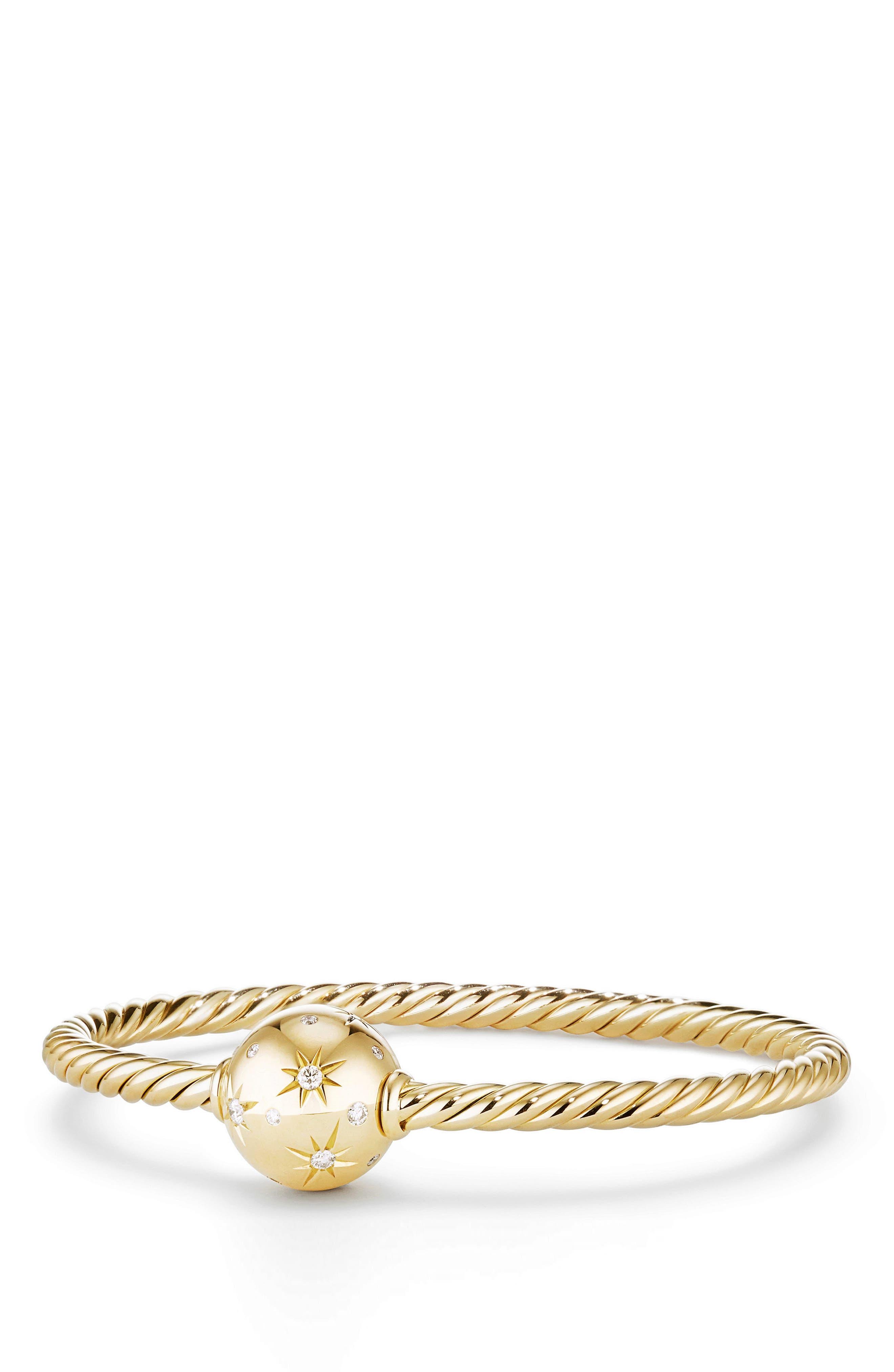 David Yurman Solari Station Bracelet with Diamonds in 18K Gold