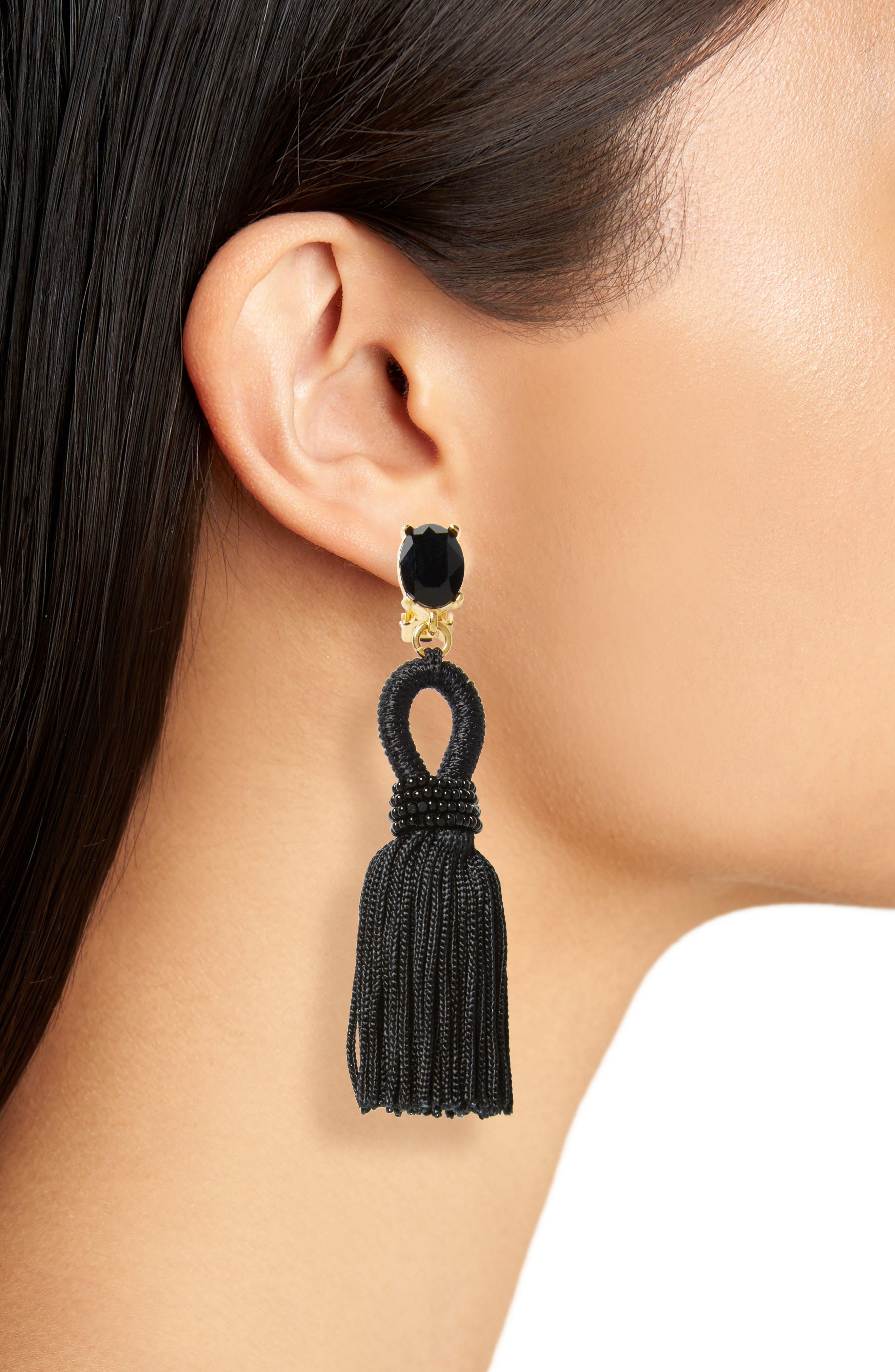 Alternate Image 2  - Oscar de la Renta Silk Tassel Drop Earrings