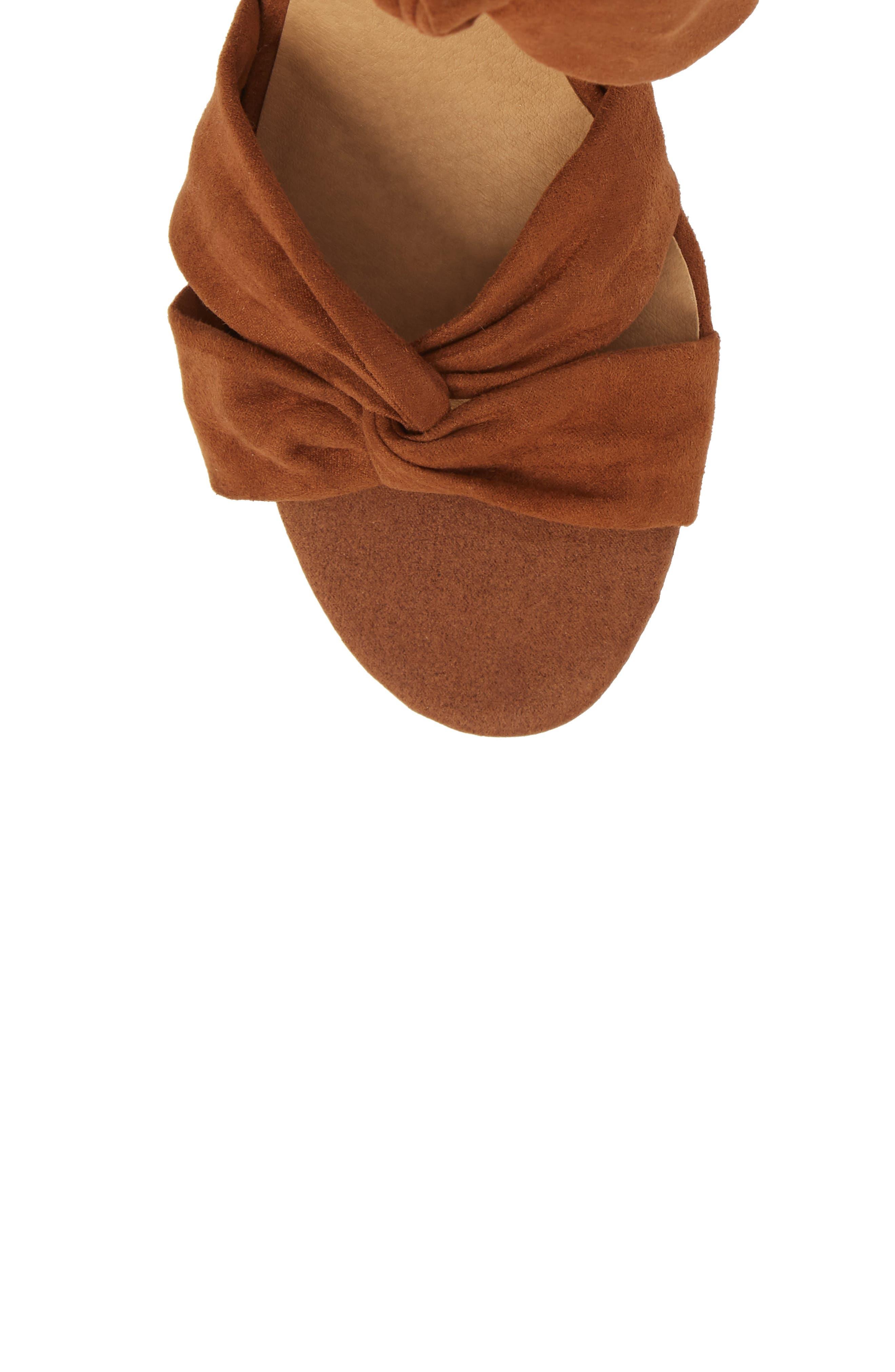 Xaylah Ankle Strap Sandal,                             Alternate thumbnail 5, color,                             Cedar Leather