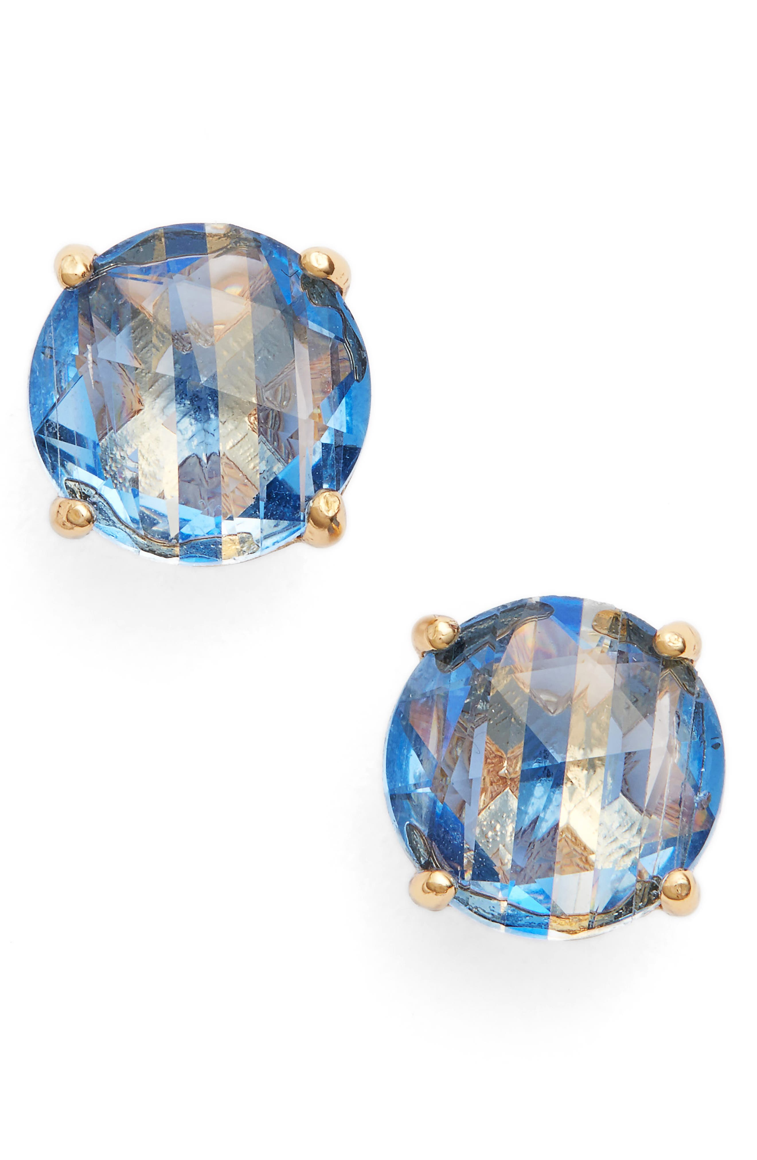 Kate Spade Bright Ideas Stripe Stud Earrings In Sapphire Multi