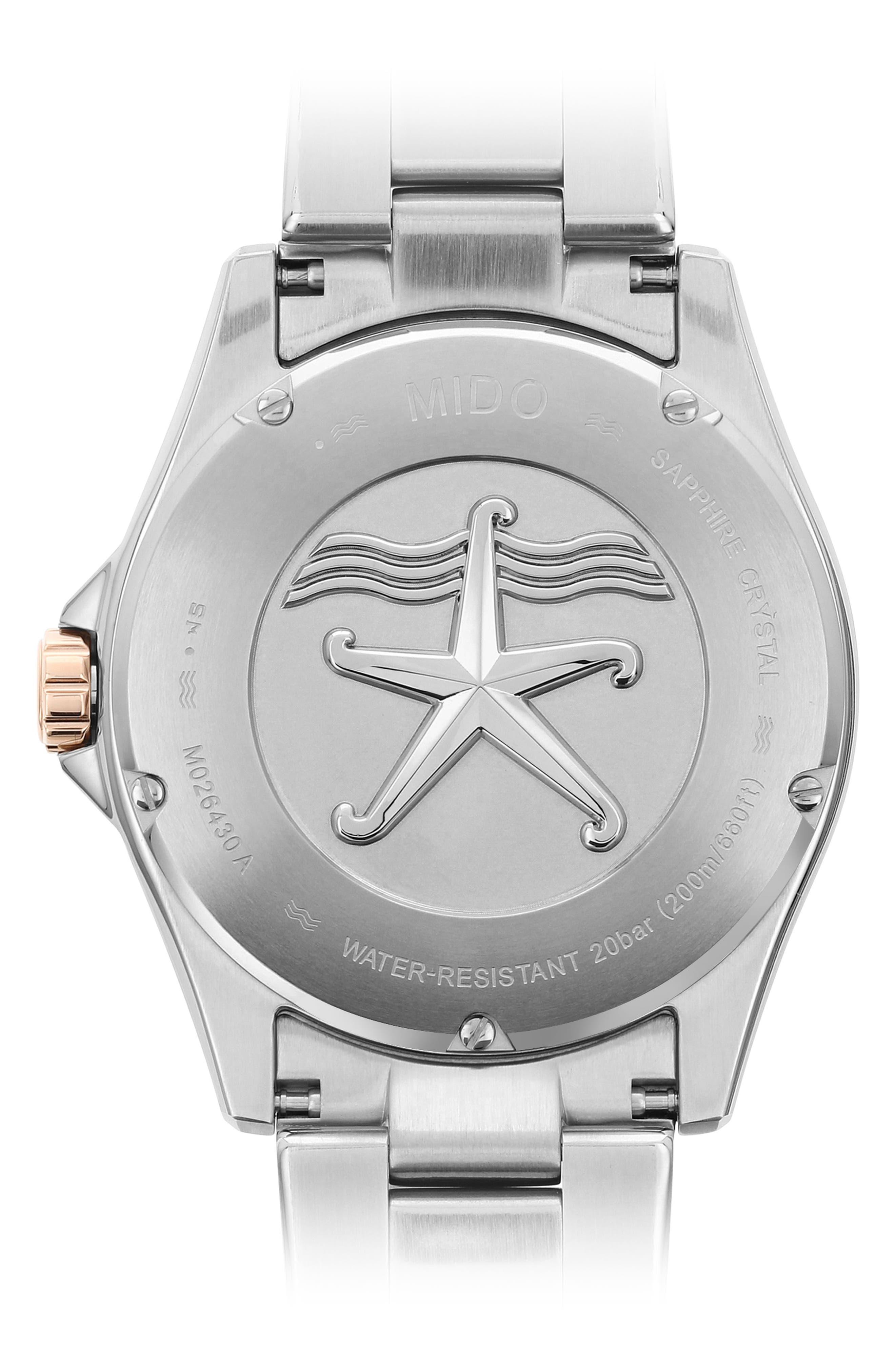 Alternate Image 2  - Mido Ocean Star Diver Bracelet Watch, 42mm