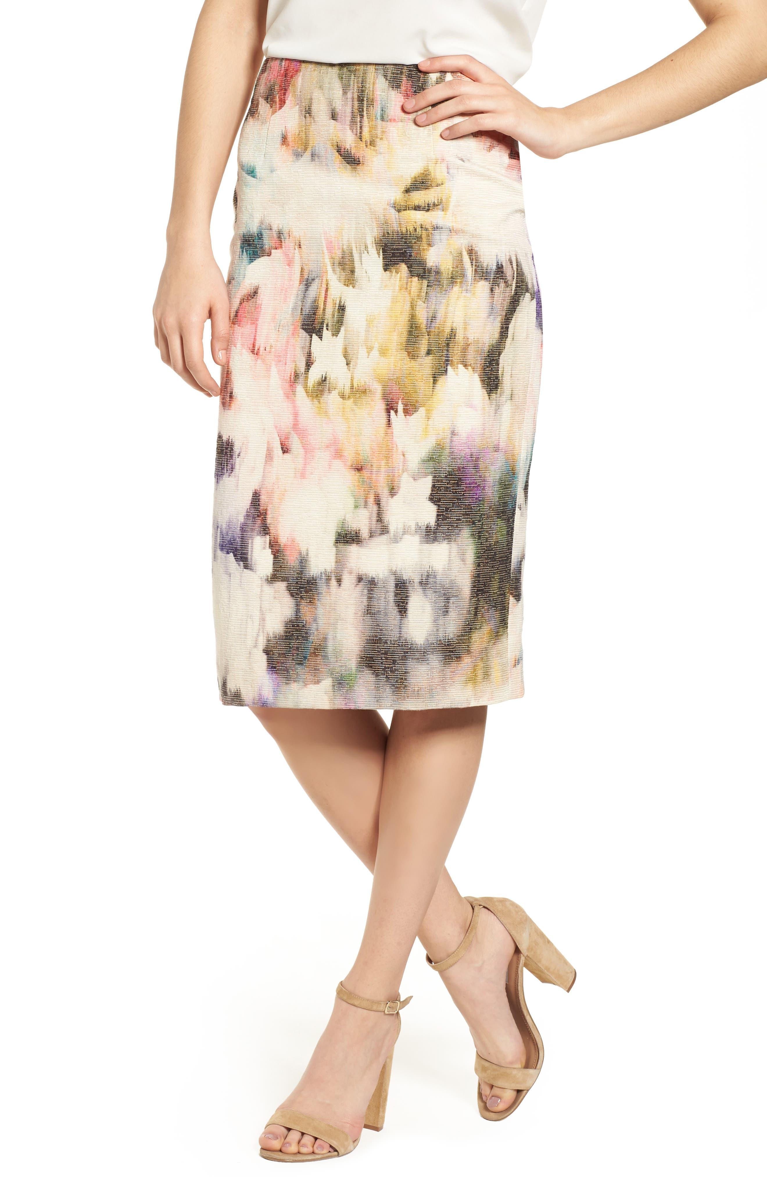 Main Image - Emerson Rose High Waist Print Skirt