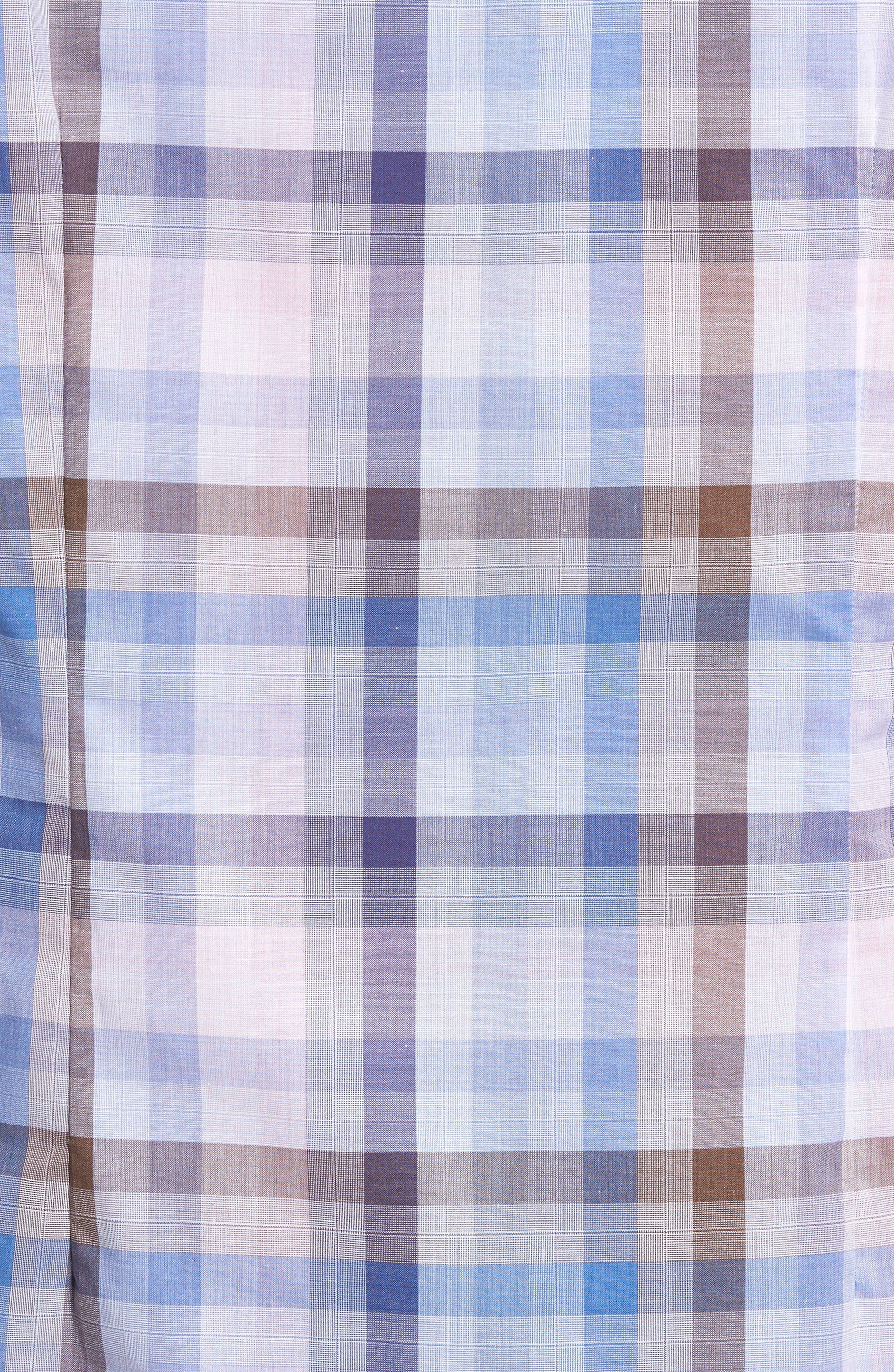 Tailored Fit Plaid Sport Shirt,                             Alternate thumbnail 5, color,                             Pink