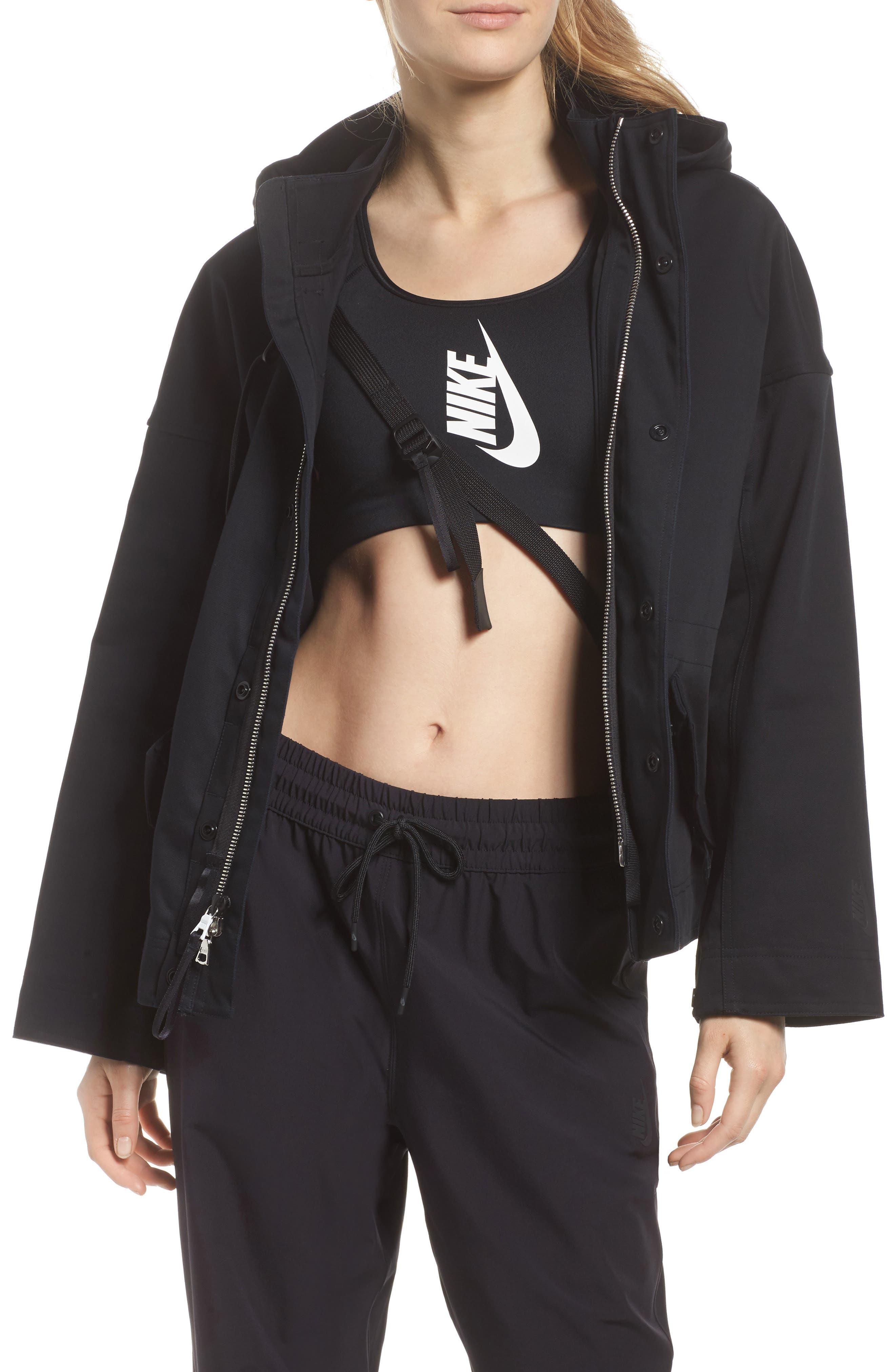 NikeLab Collection Women's Tactical Jacket,                             Alternate thumbnail 4, color,                             Black/ Black