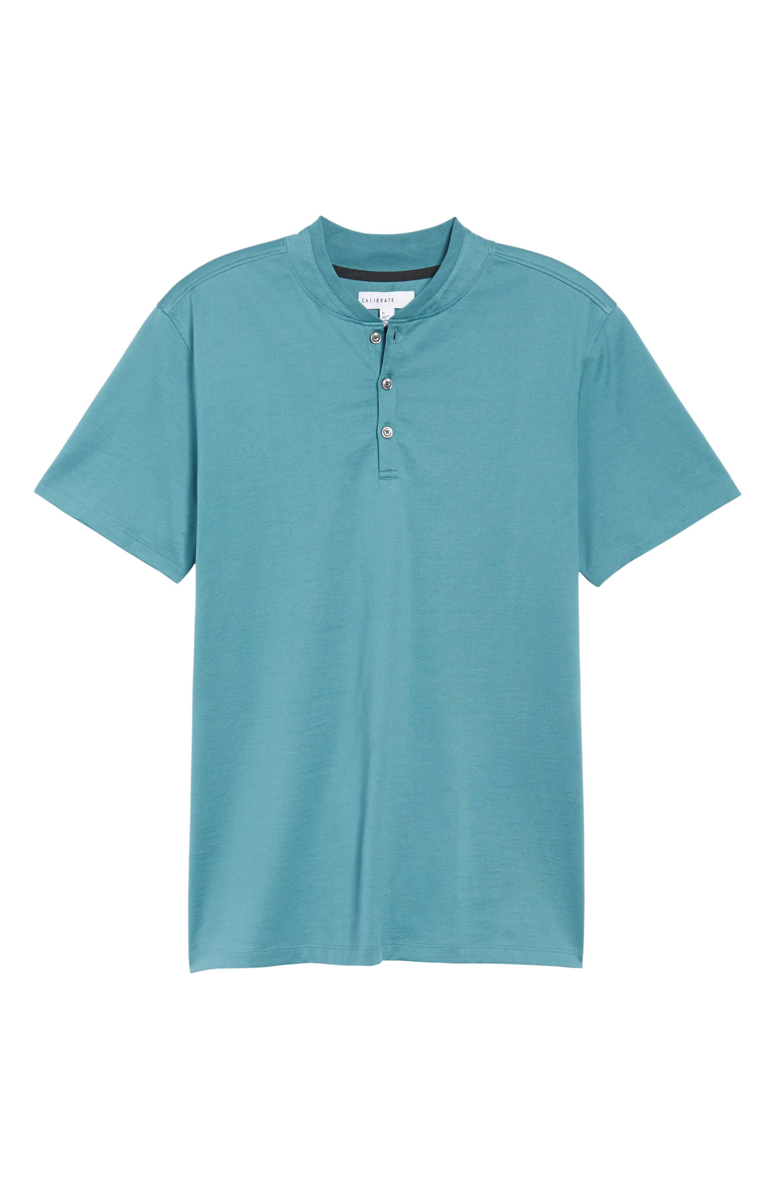 Trim Fit Fashion Polo,                             Alternate thumbnail 6, color,                             Teal Hydro