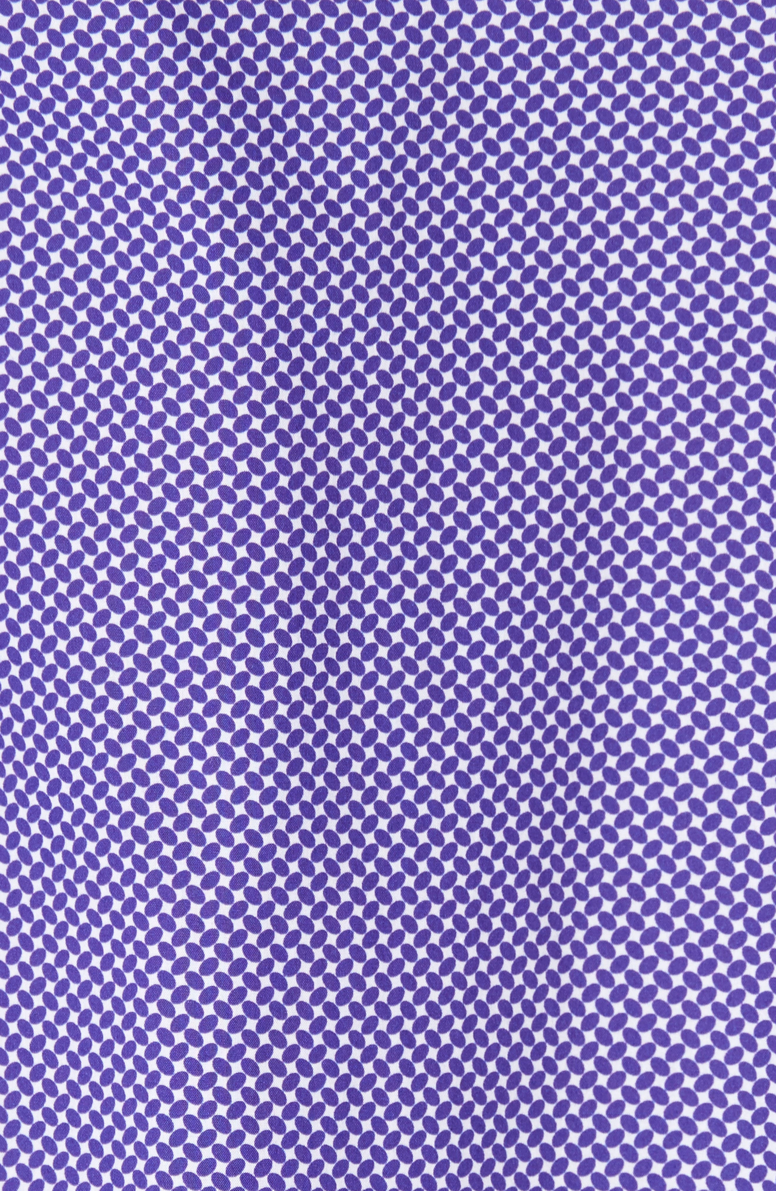 Slim Fit Geo Print Sport Shirt,                             Alternate thumbnail 5, color,                             Amethyst