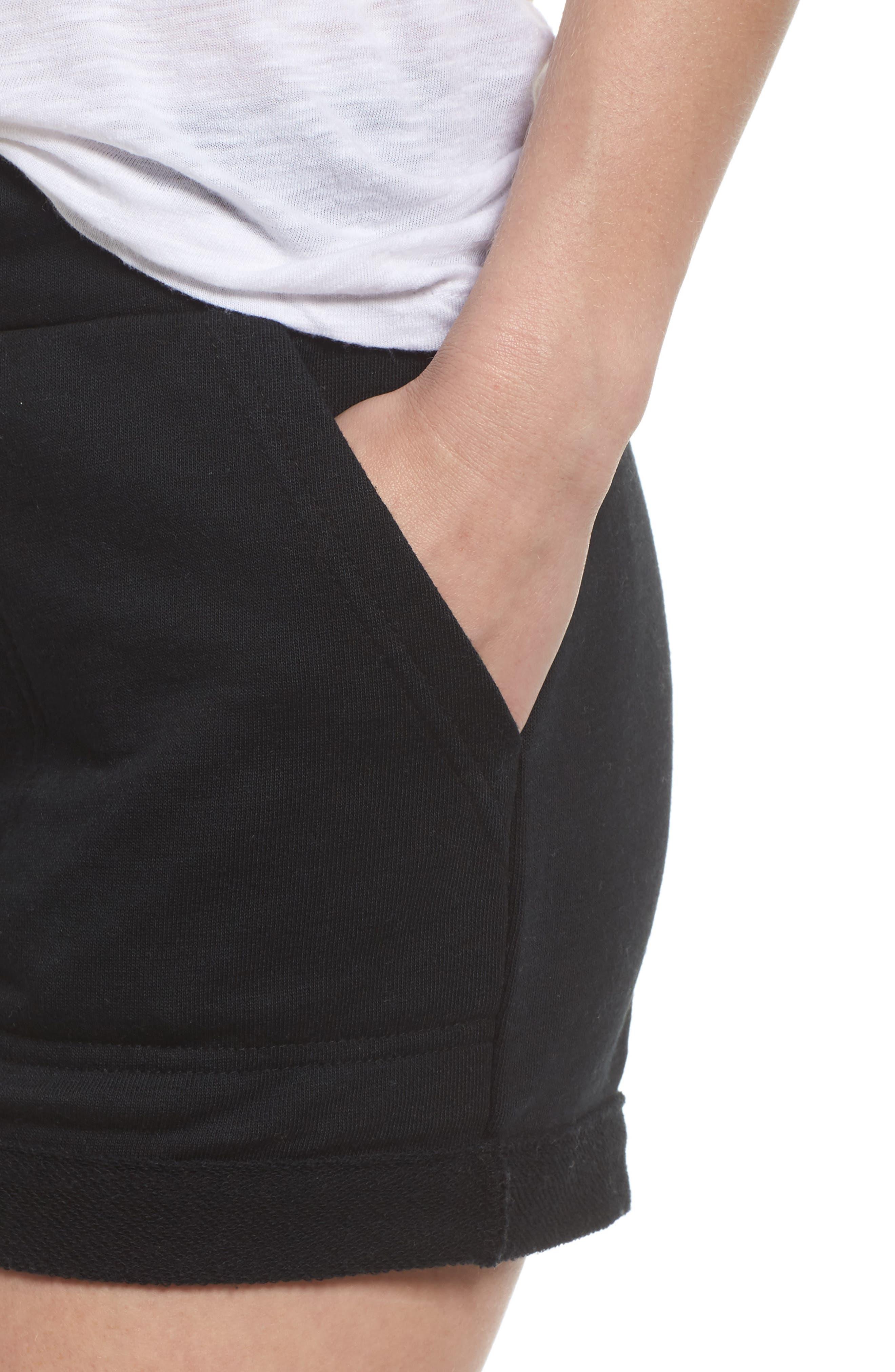 Lounge Shorts,                             Alternate thumbnail 5, color,                             True Black