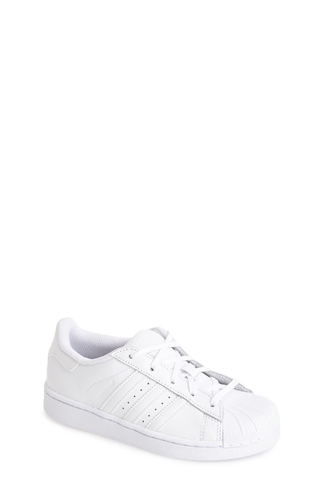 Alternate Image 1 Selected - adidas 'Superstar' Sneaker (Toddler & Little Kid)
