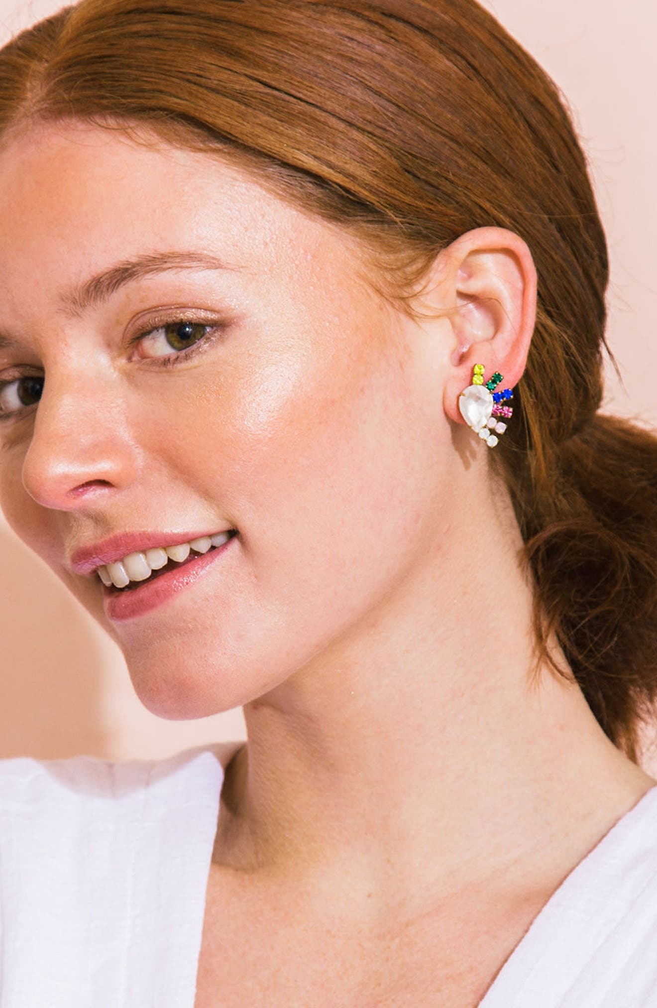 Alternate Image 3  - Loren Hope Olivia Stud Earrings