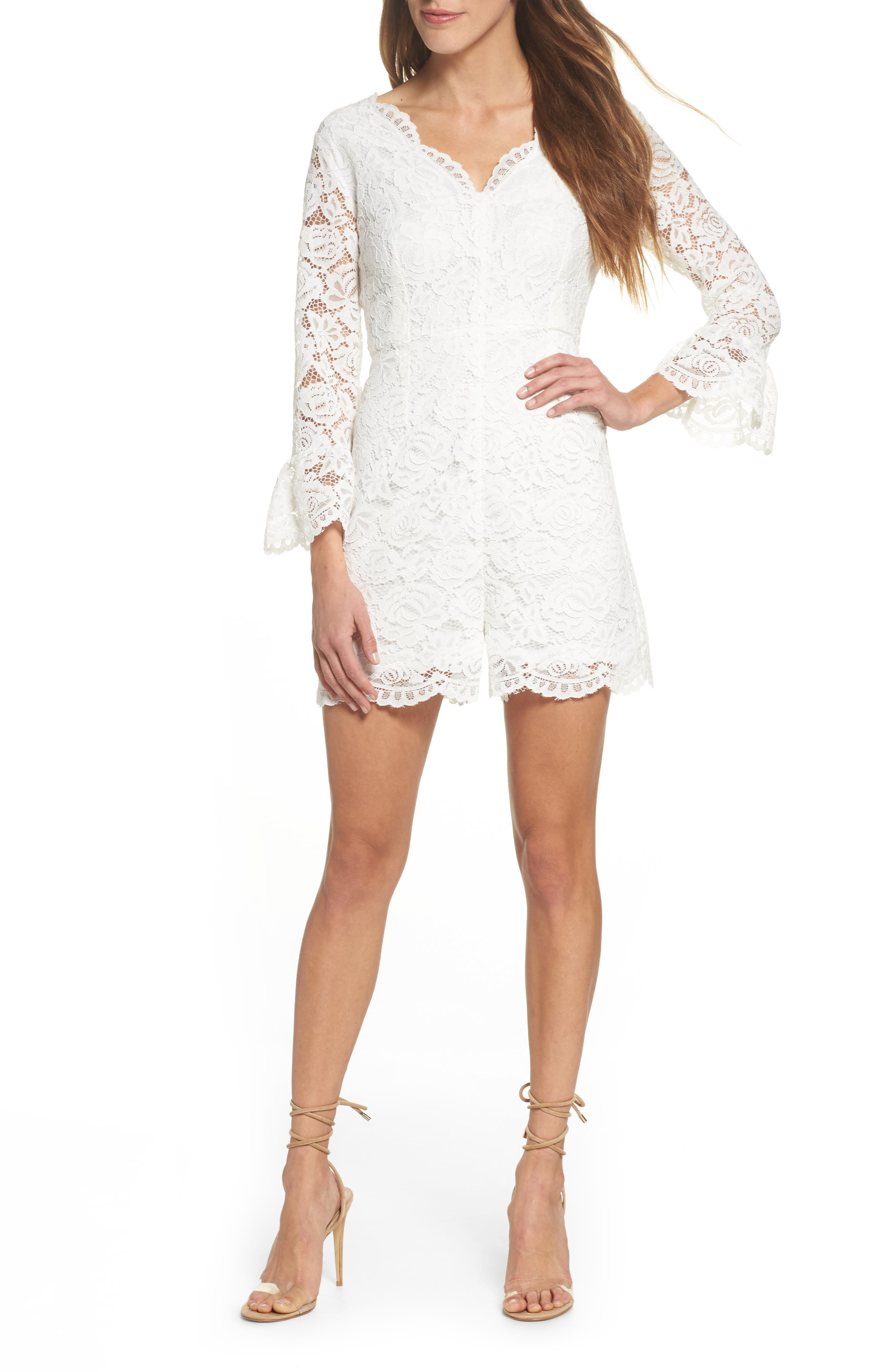 Alternate Image 1 Selected - NSR Lace Romper