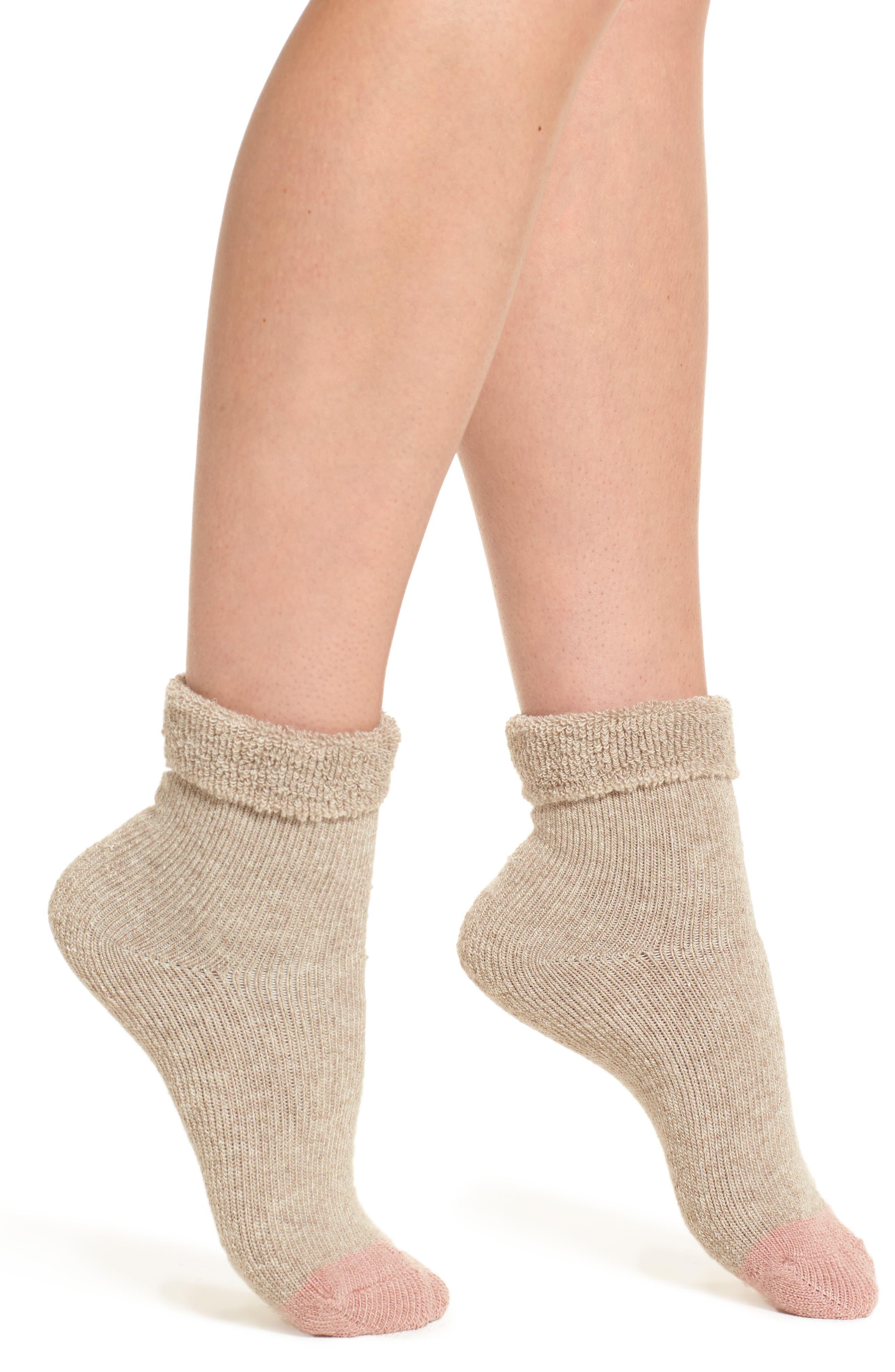 Tip Toe Bora Shootie Socks,                         Main,                         color, Cappuccino