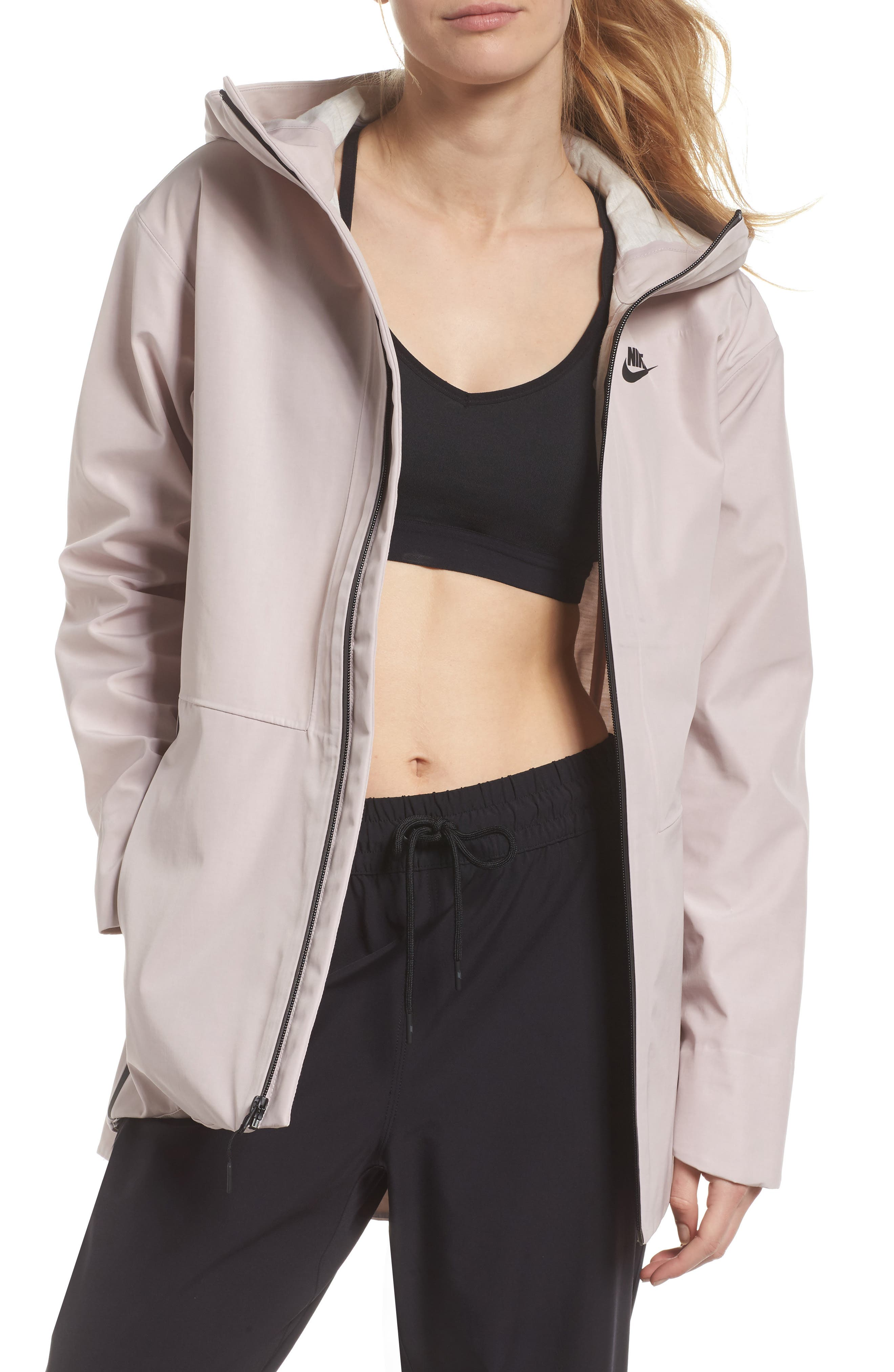Sportswear Women's Tech Jacket,                             Main thumbnail 1, color,                             Particle Rose/ Black