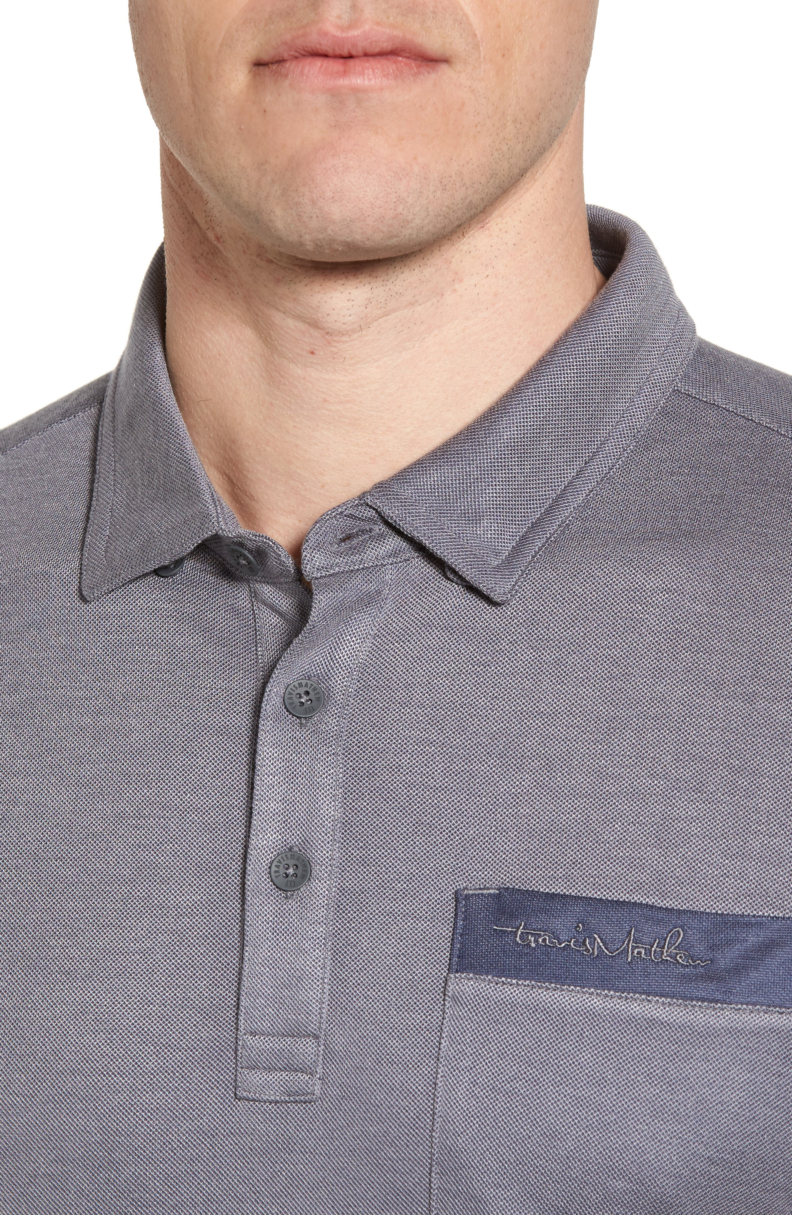 McKennon Piqué Polo,                             Alternate thumbnail 4, color,                             Quiet Shade/ Blue Nights