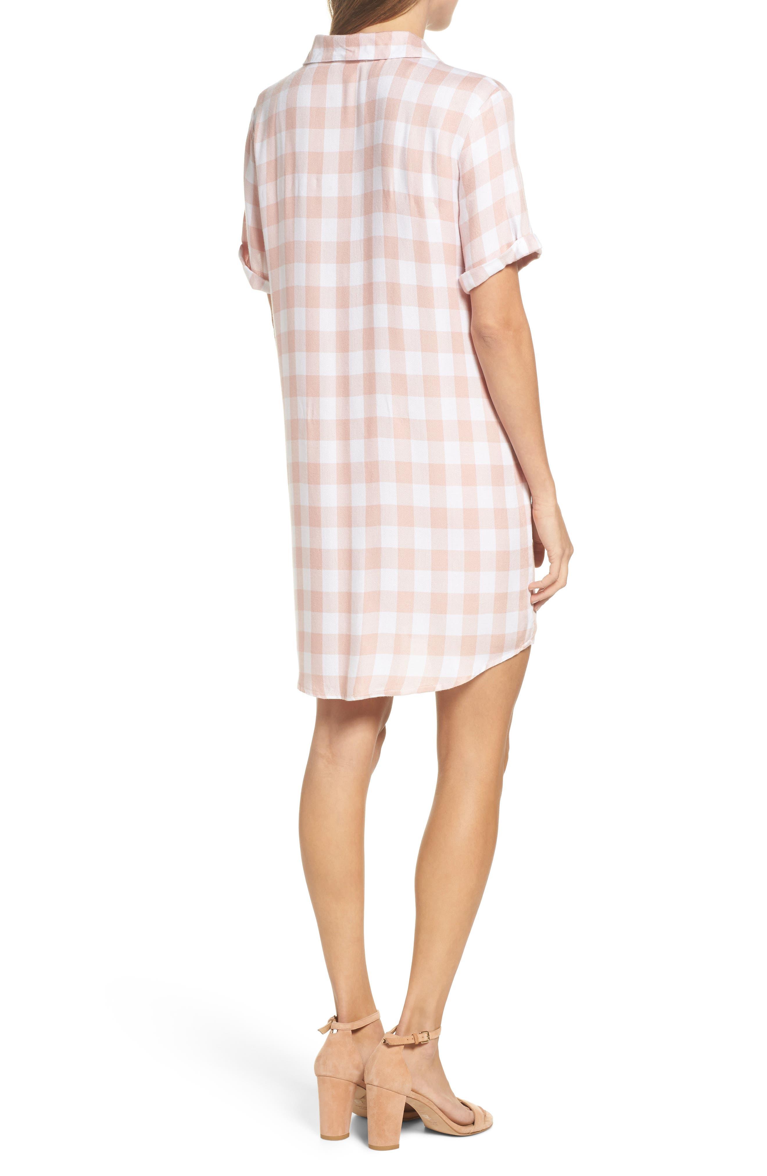Cicely Plaid Shirtdress,                             Alternate thumbnail 2, color,                             Pink Lemonade
