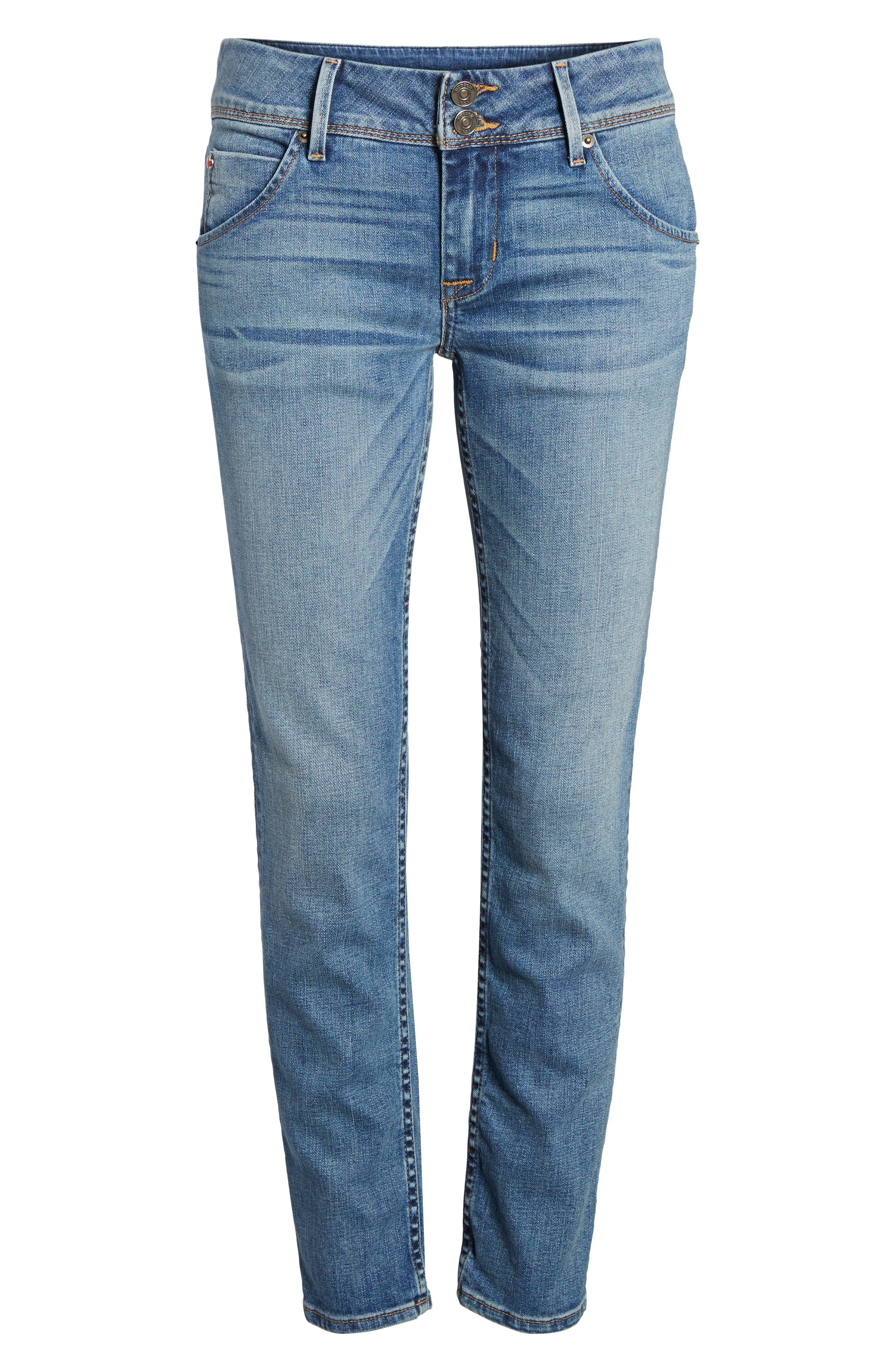 Hudson Collin Skinny Jeans,                             Alternate thumbnail 7, color,                             Hushed