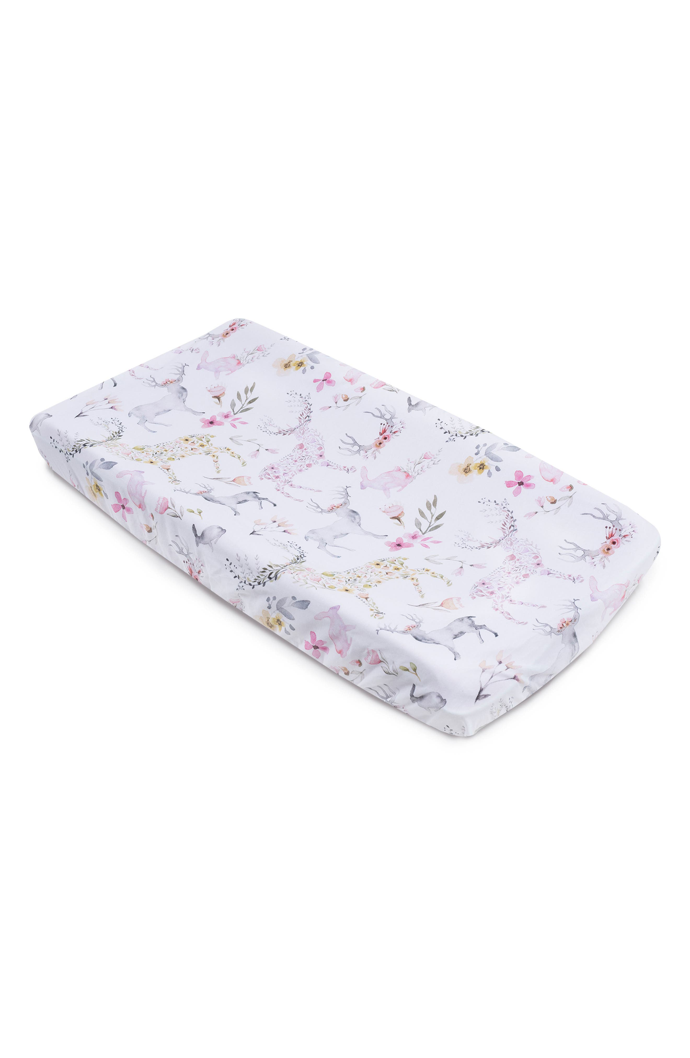 Fawn Print 2-Pack Changing Pad Covers,                             Alternate thumbnail 2, color,                             Fawn